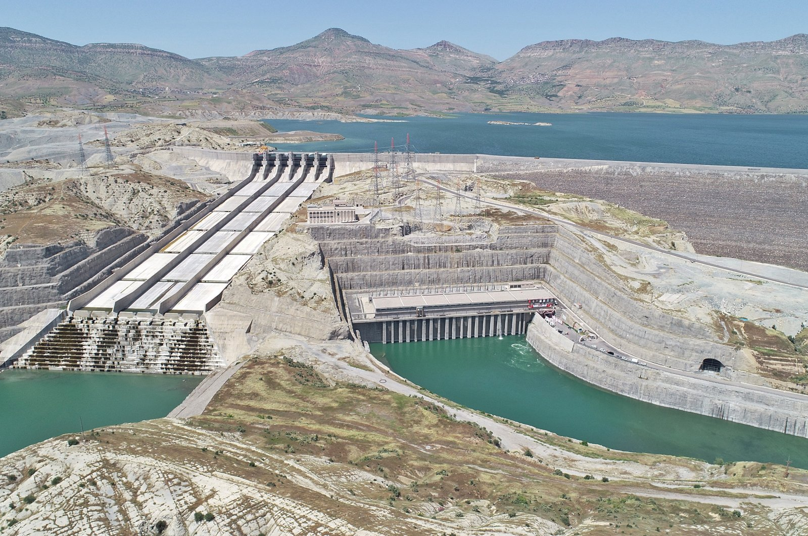 Turkey's Ilısu Dam on the Tigris River that has recently started partially operating. (DHA Photo)