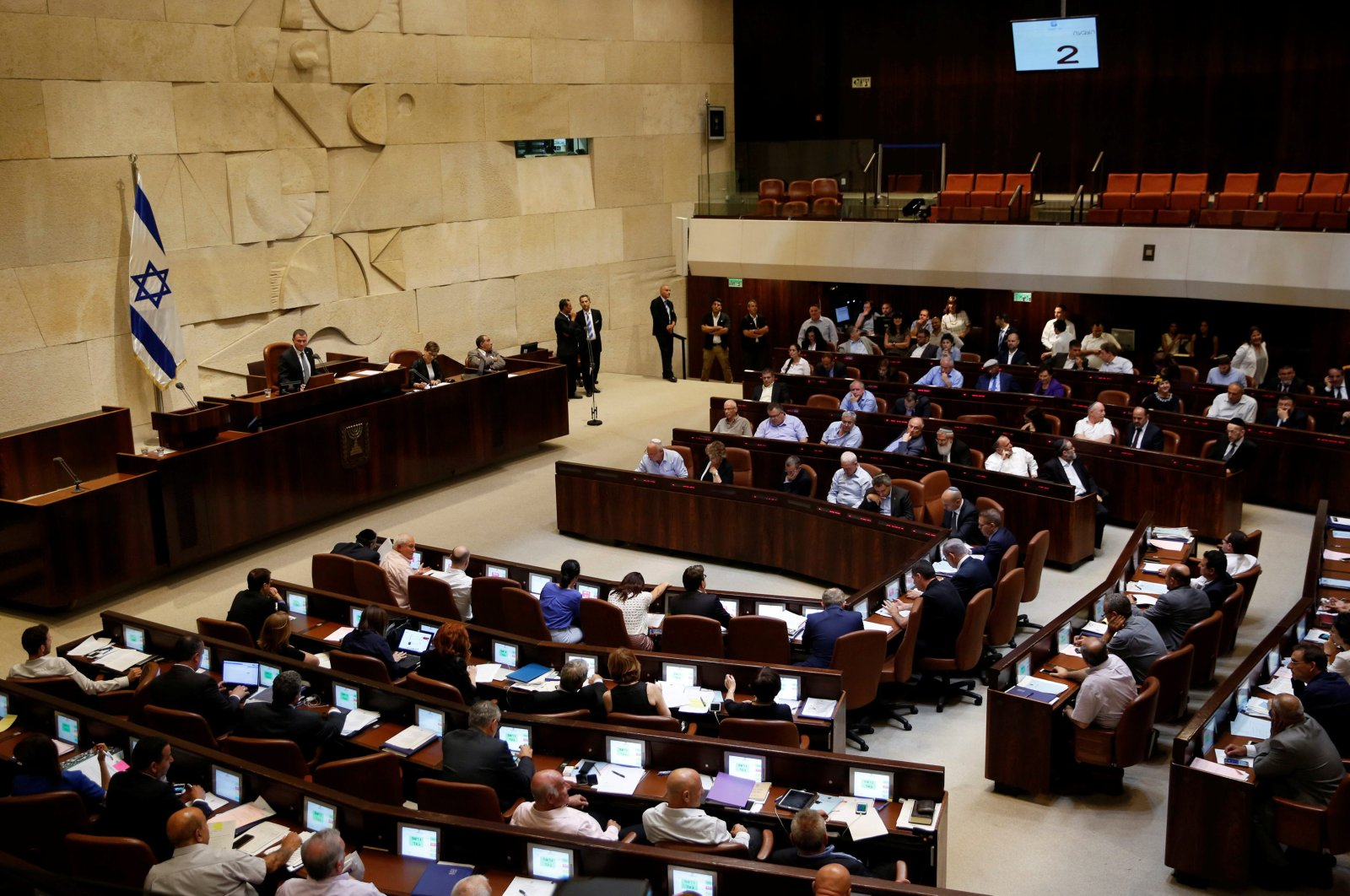 The plenum during a session at the Knesset, the Israeli parliament, Jerusalem, July 11, 2016. (Reuters Photo)