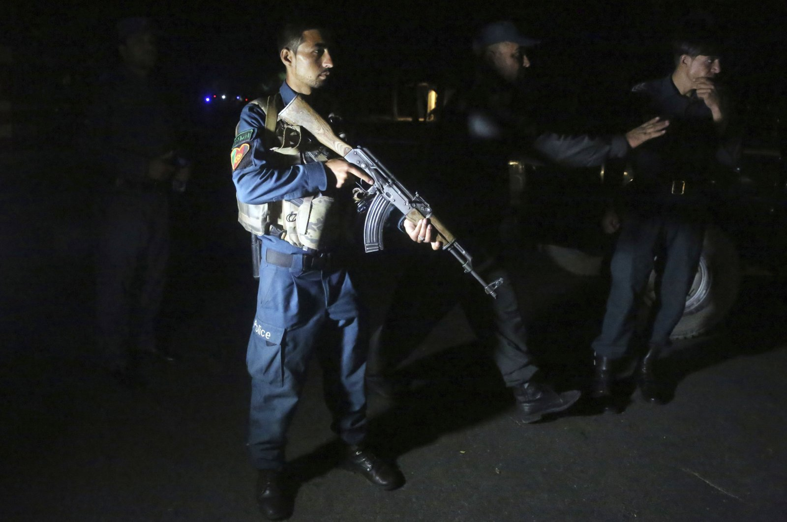 Afghan police arrive at the site of a bombing in a mosque in Kabul, Afghanistan, June 2, 2020. (AP Photo)