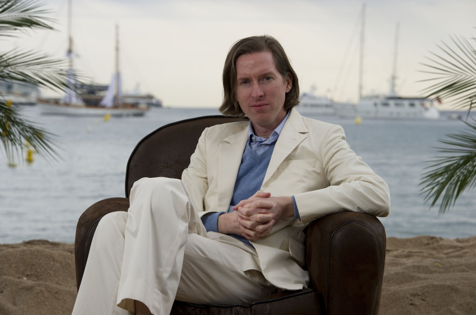 Director Wes Anderson poses for a portrait to promote his film Moonrise Kingdom at the 65th international film festival, in Cannes, southern France, May 18, 2012. (AP Photo)