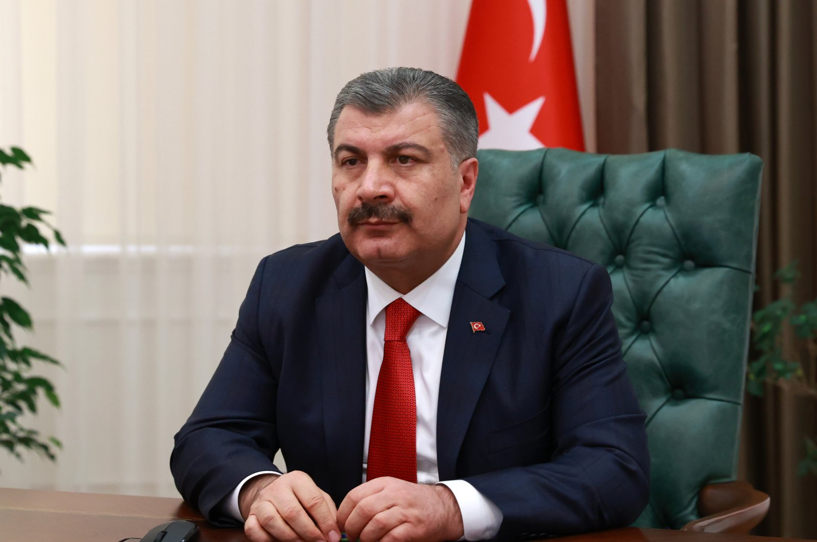 Health Minister Fahrettin Koca. (AA Photo)