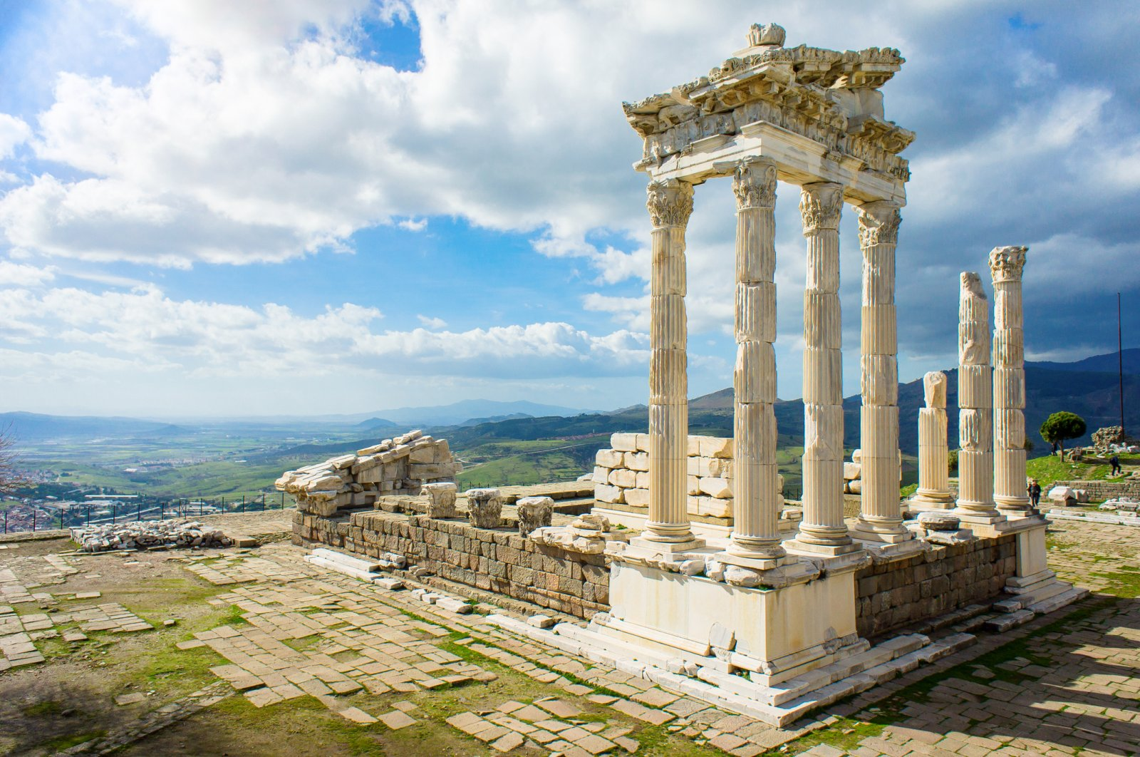 The temple of Trajan in the ancient city of Pergamon, Bergama, Turkey. (iStock Photo)