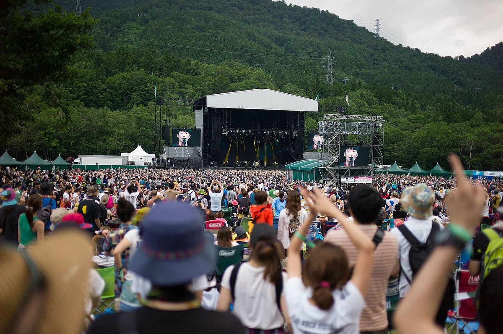 Gen Hoshino at the Fuji Rock Festival 2015.