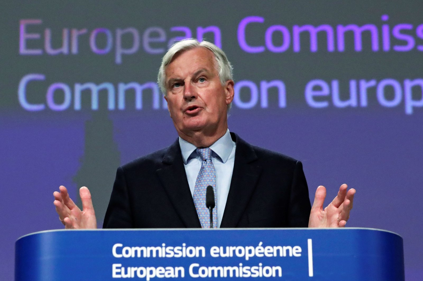 EU's Brexit negotiator Michel Barnier gives a press conference at the EU Commission, Brussels, June 5, 2020. (AFP Photo)