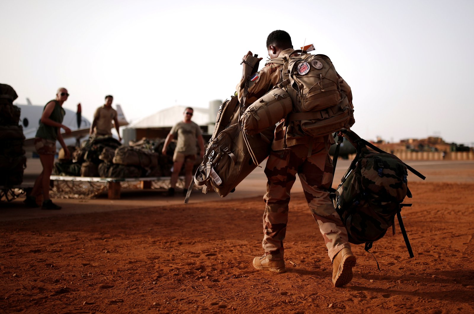 A French soldier leaves with his backpack in Gao, Mali, August 1, 2019. (Reuters Photo)