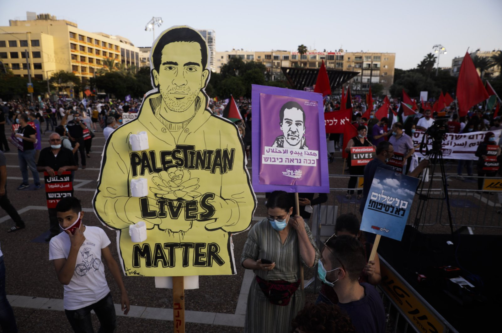 Protesters attend a rally against Israel plans to annex parts of the West Bank, in Tel Aviv, Israel, Saturday, June 6, 2020. (AP Photo)