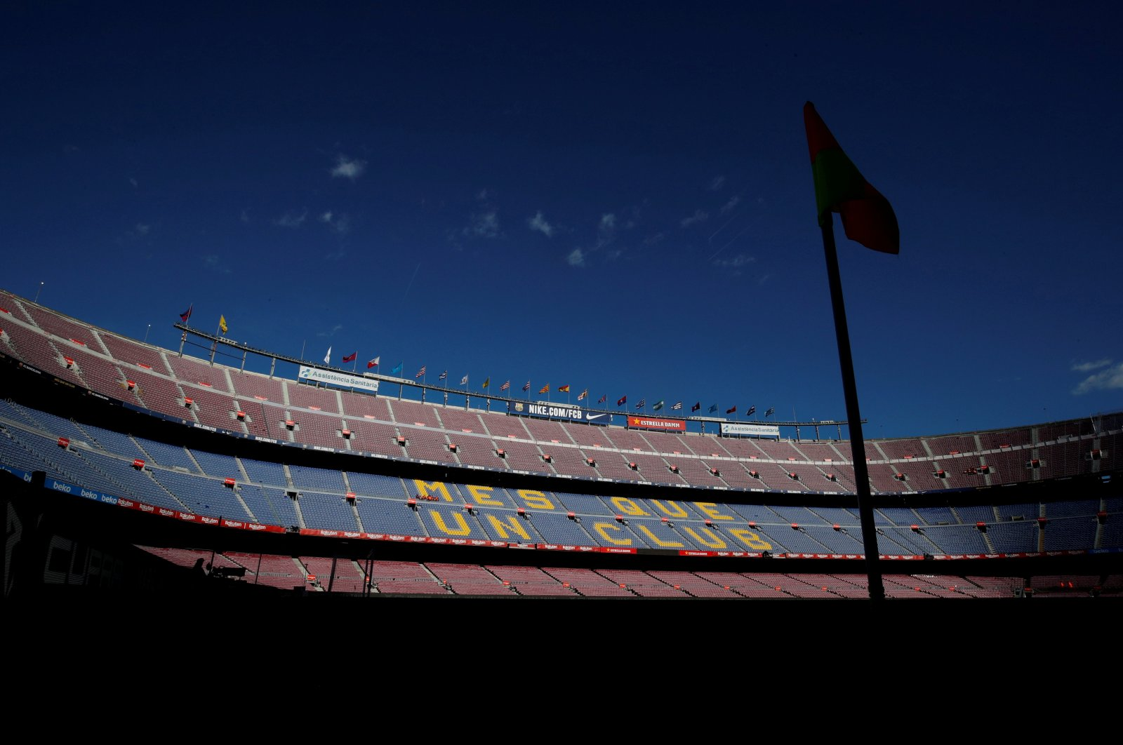 General view inside the Camp Nou stadium, Barcelona, Spain, March 7, 2020. (REUTERS Photo)