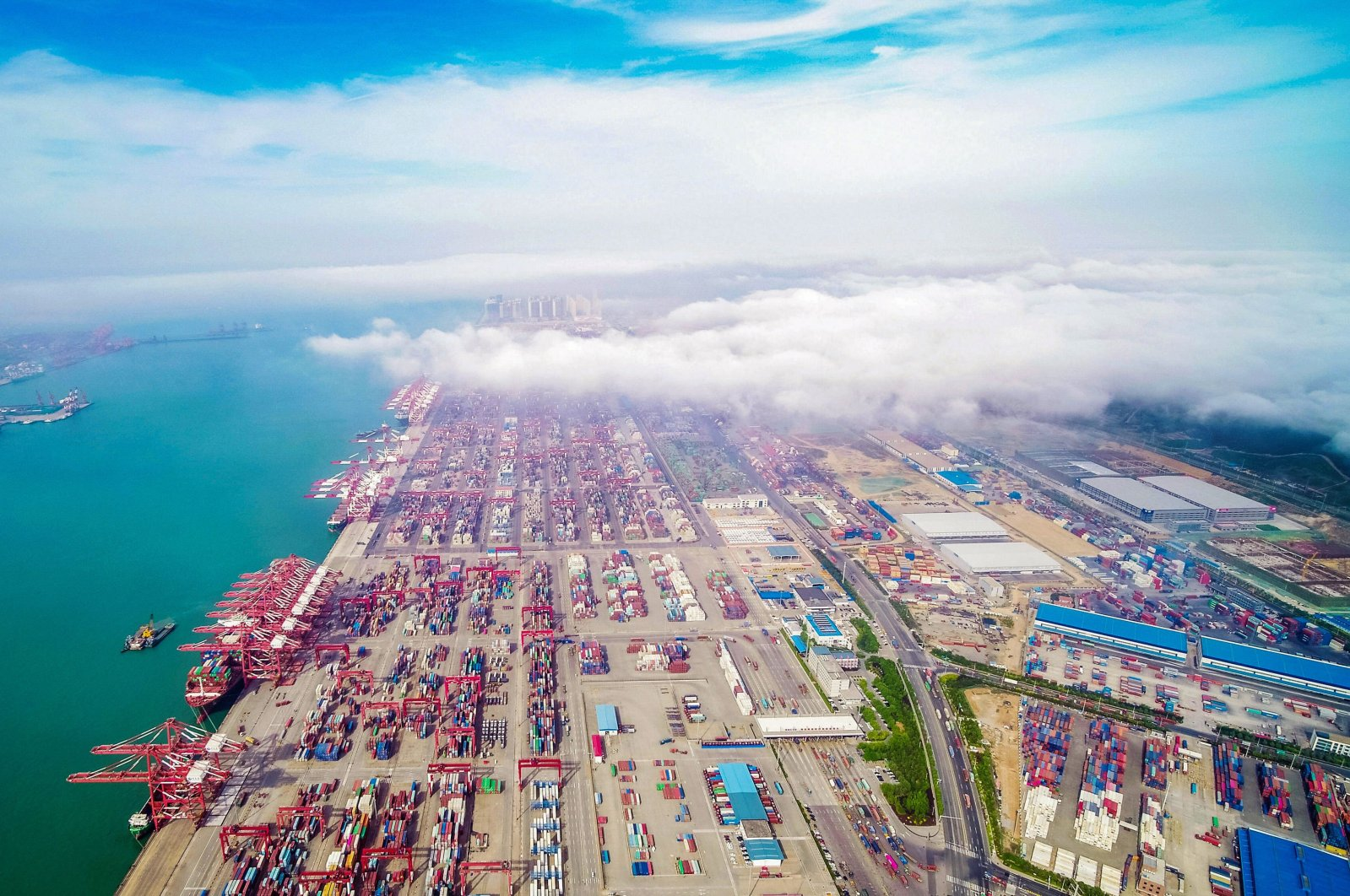 A view of a port in Qingdao in China's eastern Shandong province, May 14, 2019. (AFP Photo)