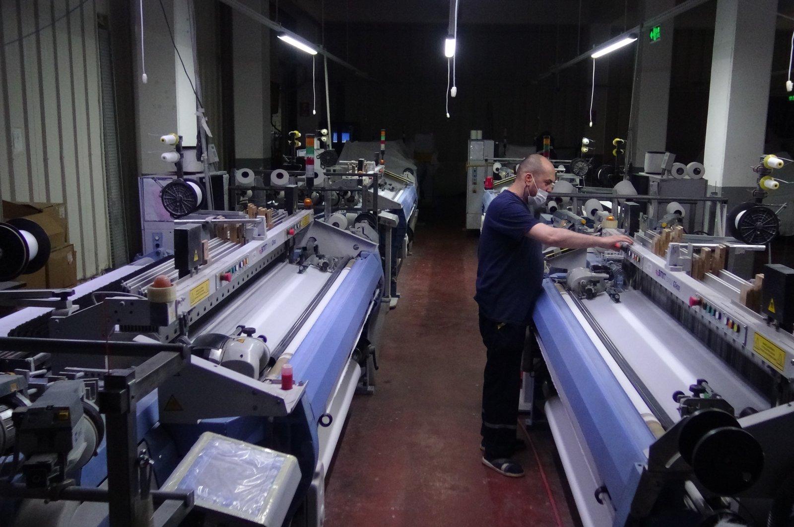 A textile factory in northwestern Turkey's Bursa province in an undated photo. (IHA Photo)