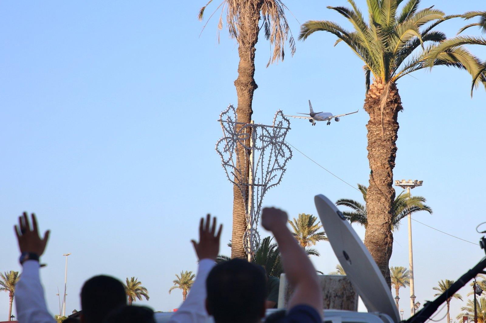 Libyan people in the capital's Martyr's Square celebrate the retaking of Tarhouna and Bani Walid provinces from warlord Khalifa Haftar, Tripoli, Libya, June 5, 2020 (AA Photo)