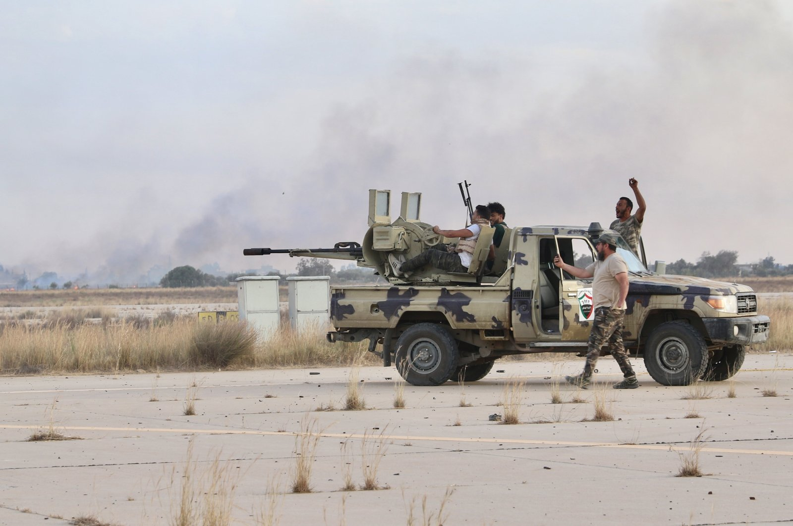 Libyan armed forces in the city of Bani Walid, June 8, 2020 (AA Photo)