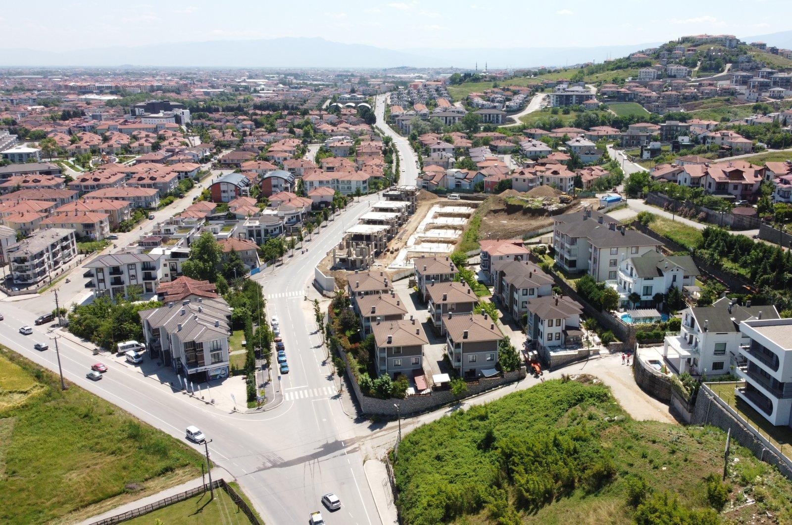 An overview of a neighborhood in northwestern Sakarya province in Turkey, June 6, 2020. (AA Photo)
