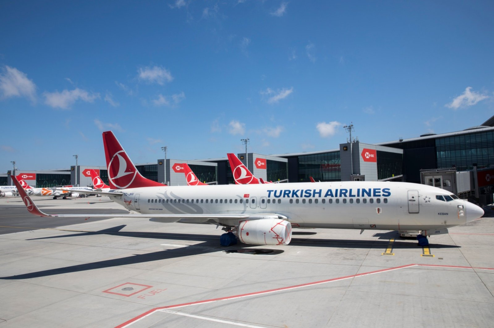 Turkish Airlines planes sit on the tarmac at Istanbul Airport during the coronavirus outbreak, Istanbul, May 24, 2020. (AA Photo)