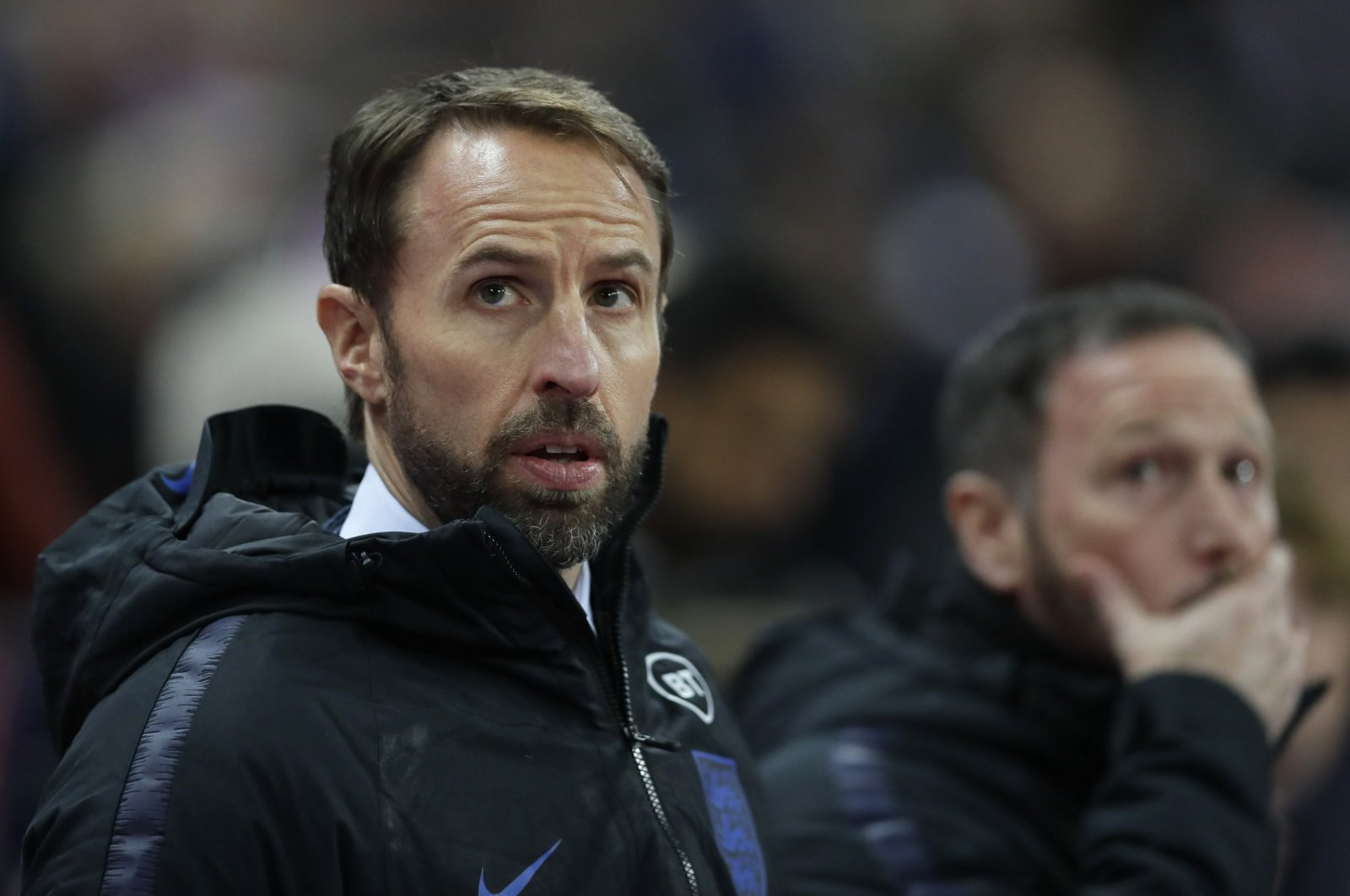 Gareth Southgate during a Euro 2020 qualifying match in London, Britain, Nov. 14, 2019. (AP Photo)