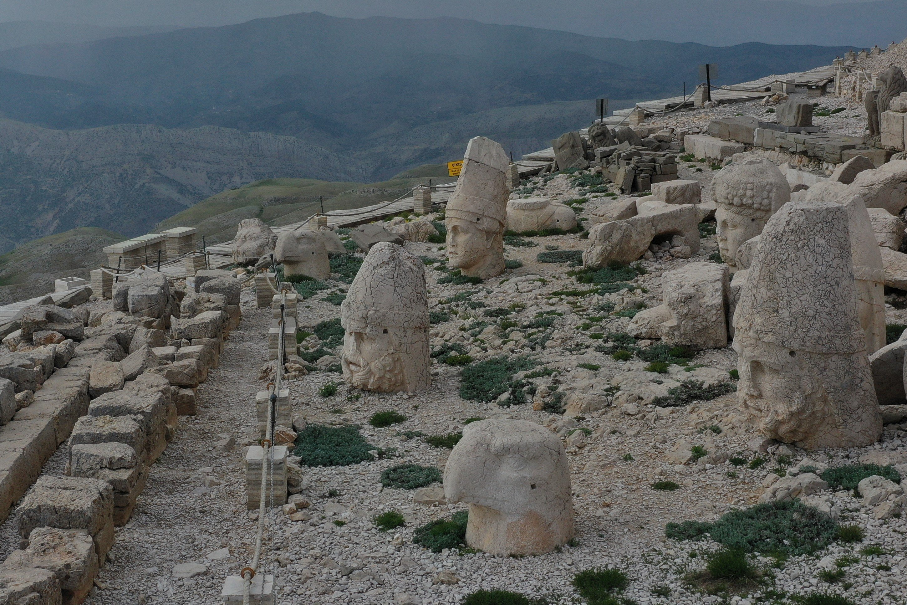 Mount Nemrut features giant structures belonging to the Kingdom of Commagene. (AA PHOTO)