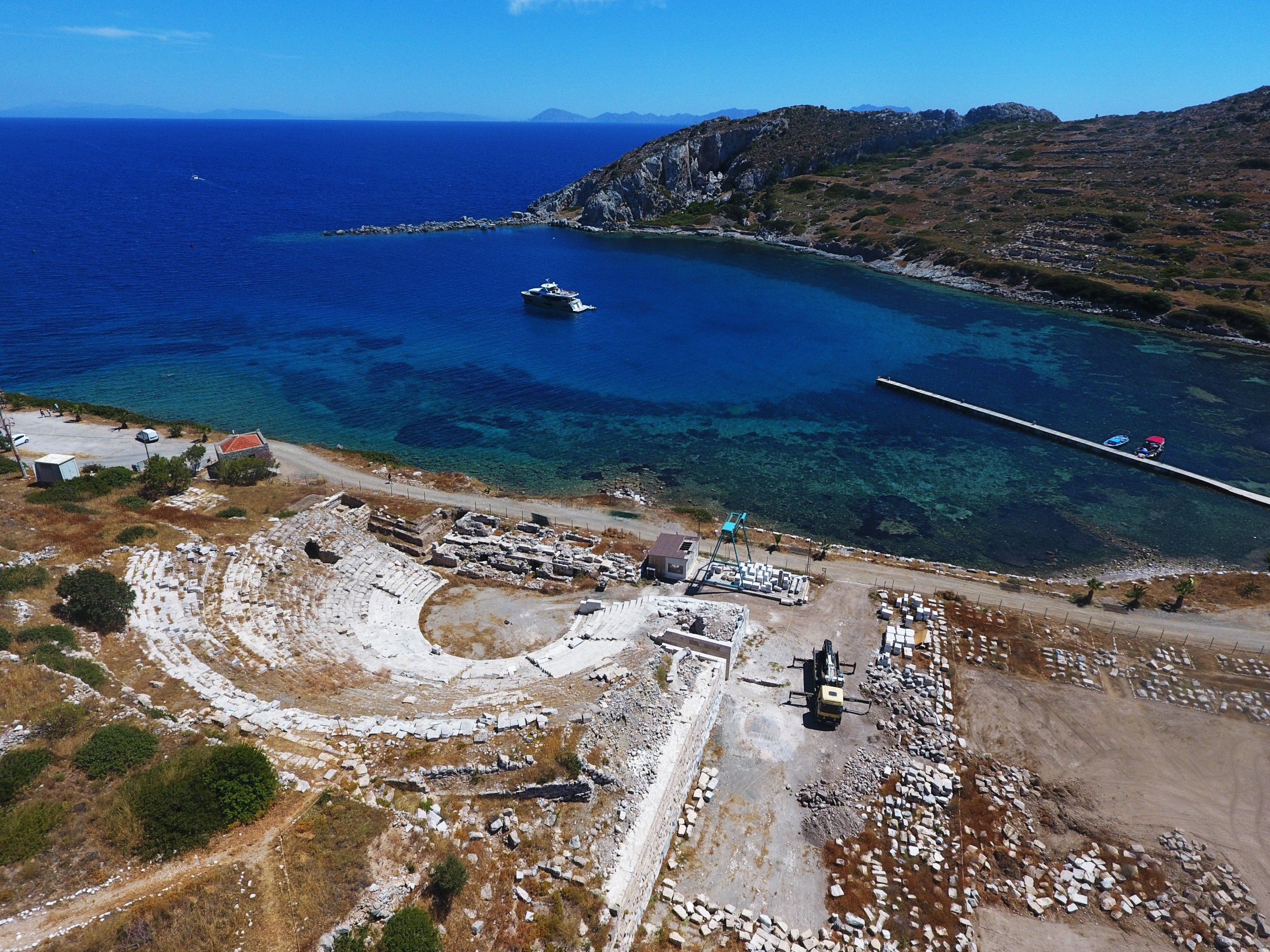 The ancient city of Knidos is famous for hosting many famous scientists in the past. (AA PHOTO)