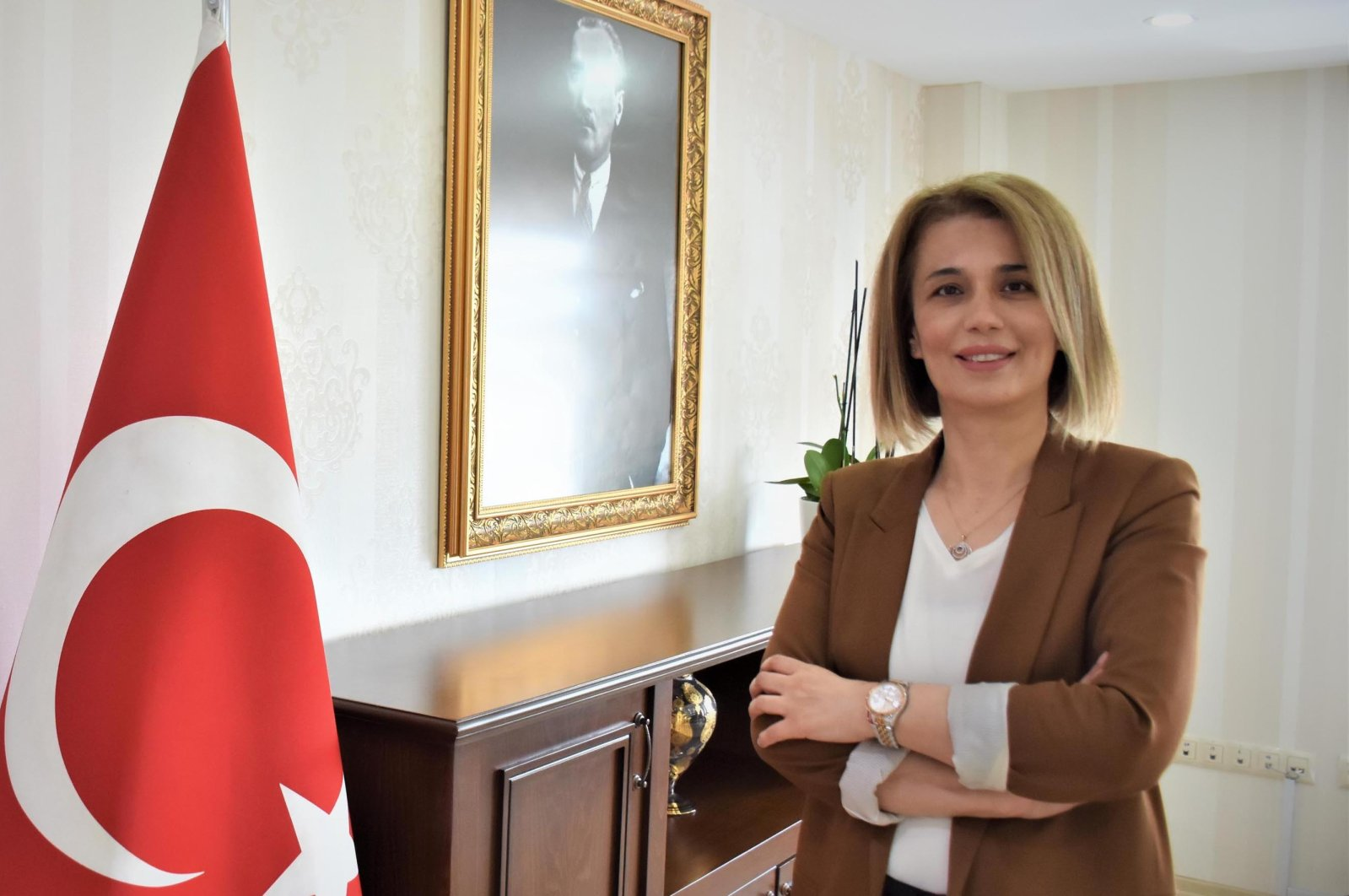 Newly appointed Nevşehir Governor İnci Sezer Becel (DHA Photo)