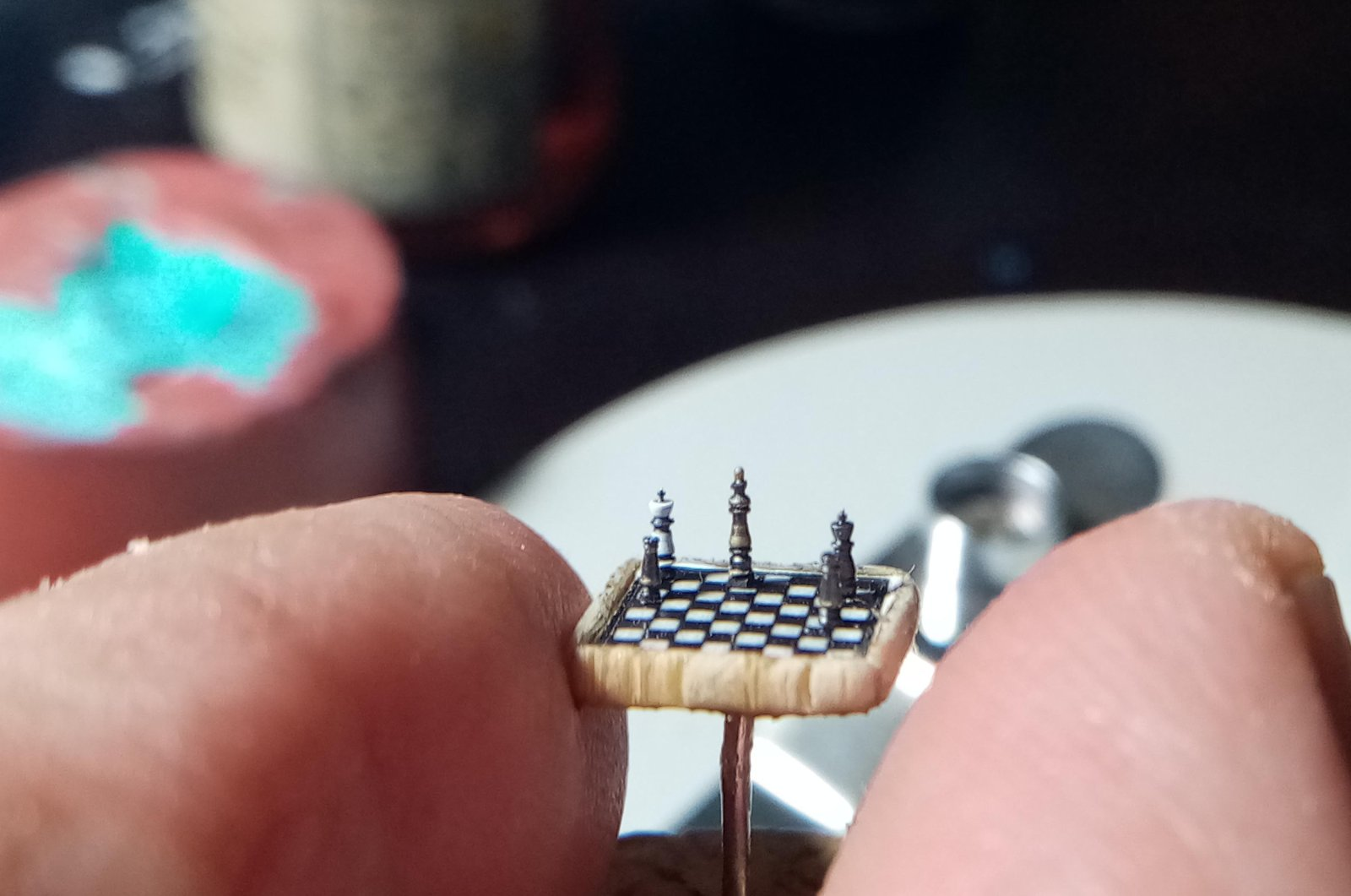 The chess set is two times smaller than the current Guinness World Record holder. (DHA PHOTO)