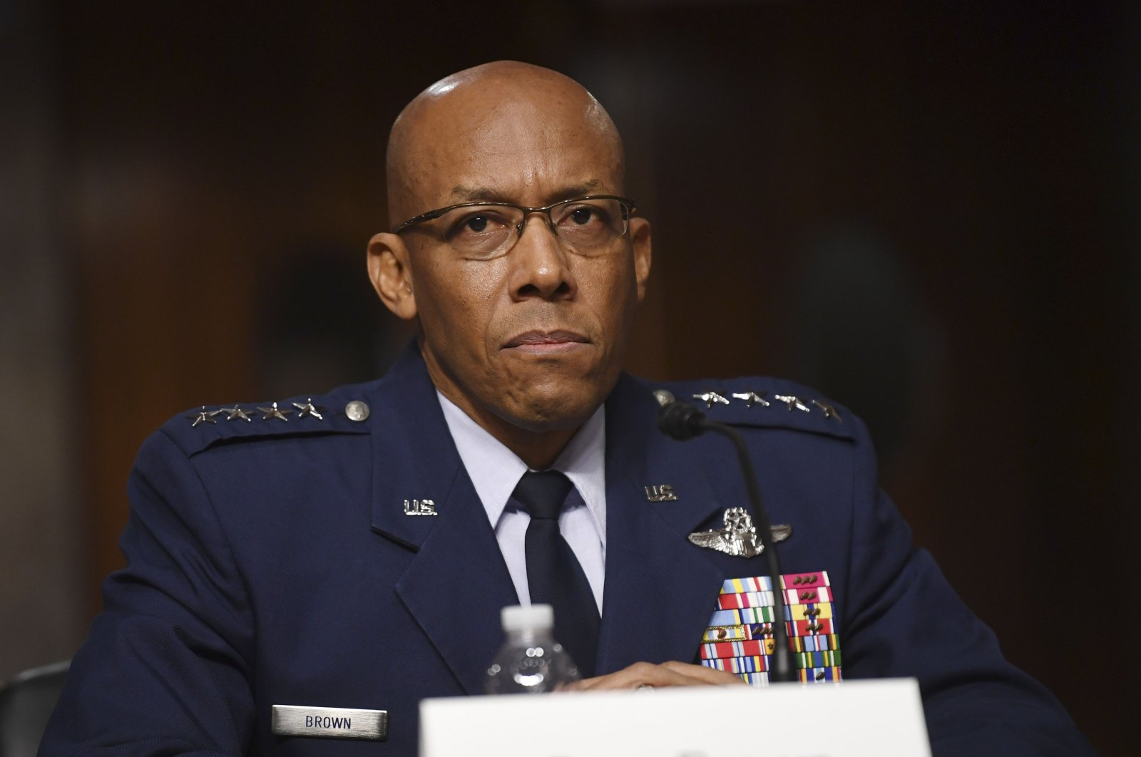 Gen. Charles Q. Brown, Jr. testifies on his nomination to be Chief of Staff of the United States Air Force before the Senate Armed Services Committee in Washington D.C., U.S., May 7, 2020. (AFP Photo)
