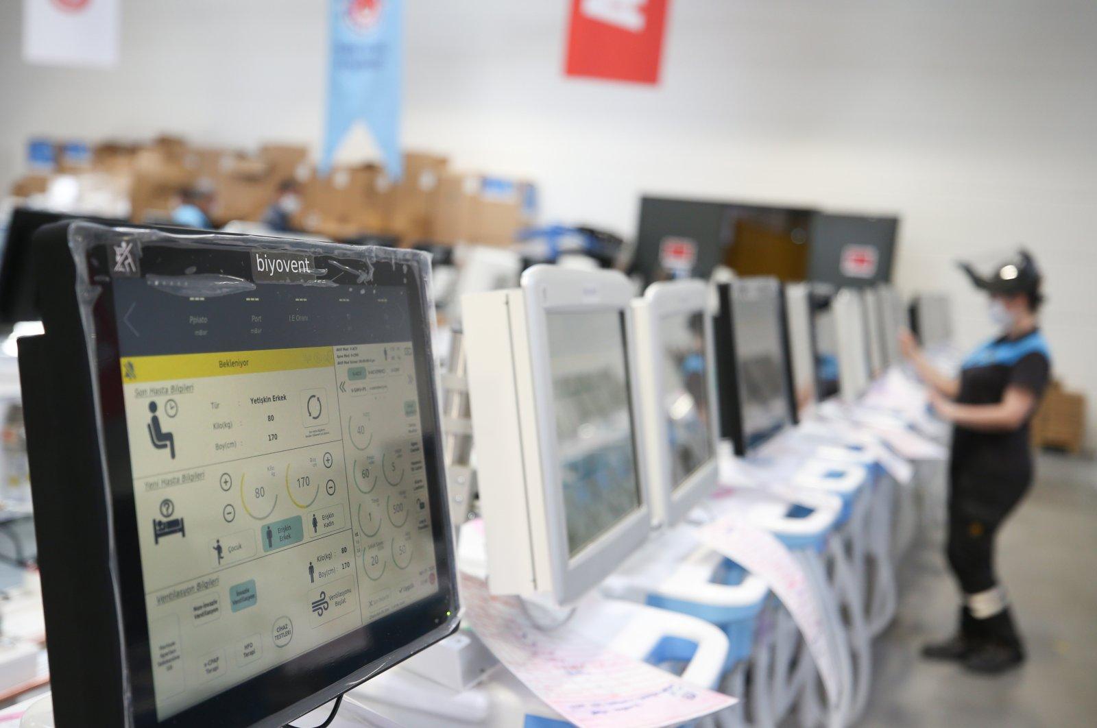 Turkish ventilators seen at an Arçelik factory in Çerkezköy district, Tekirdağ province, Turkey, April 12, 2020. (AA Photo)