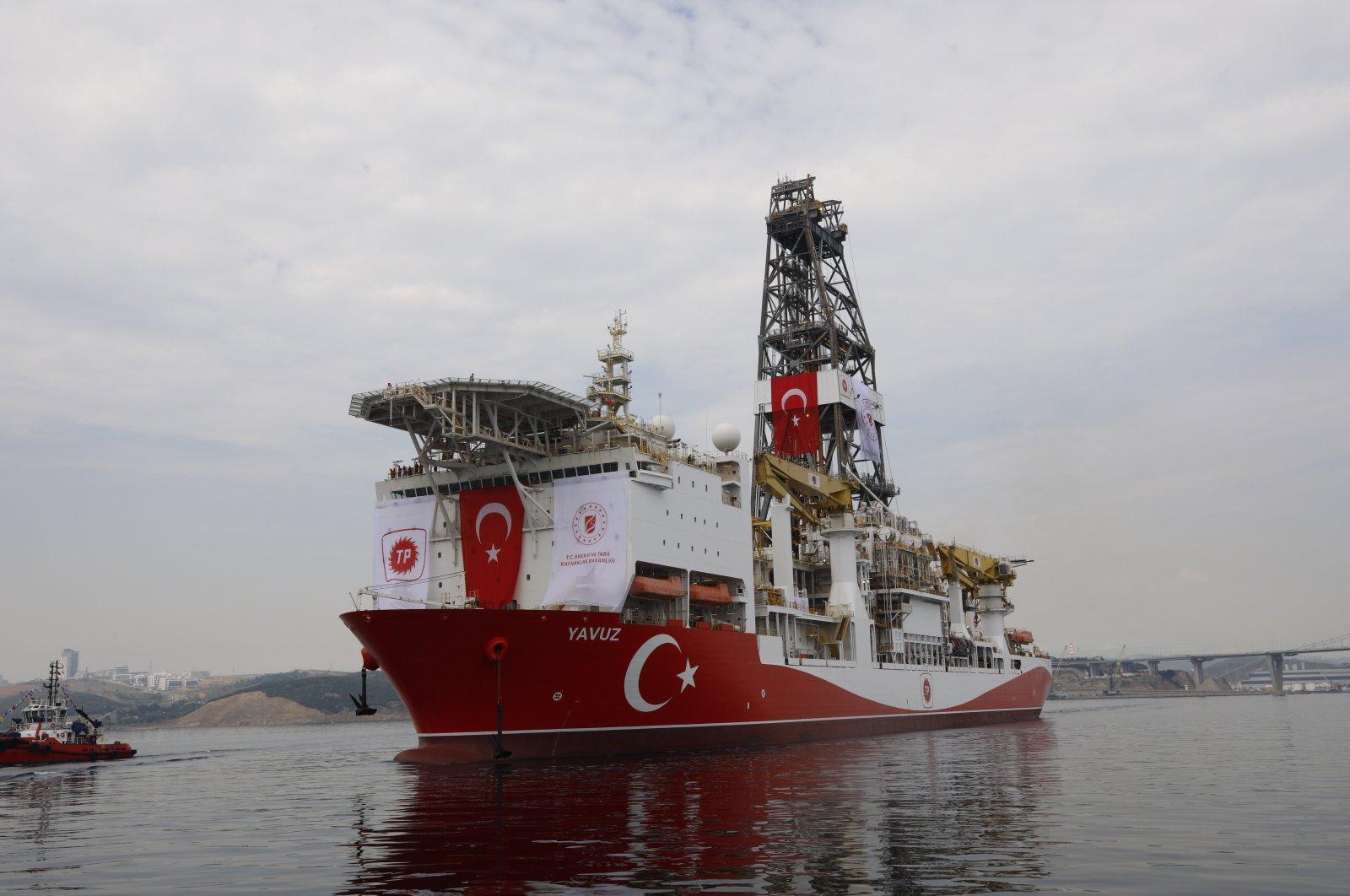 Turkey's drilling vessel Yavuz began its activities in the Eastern Mediterranean, June 22, 2019 (AA Photo)