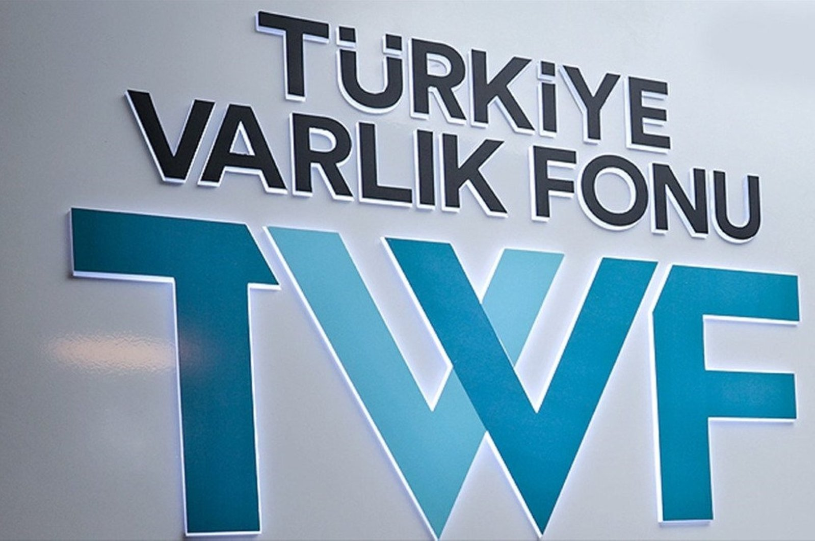 The logo of the Turkey Wealth Fund is pictured in this undated file photo.