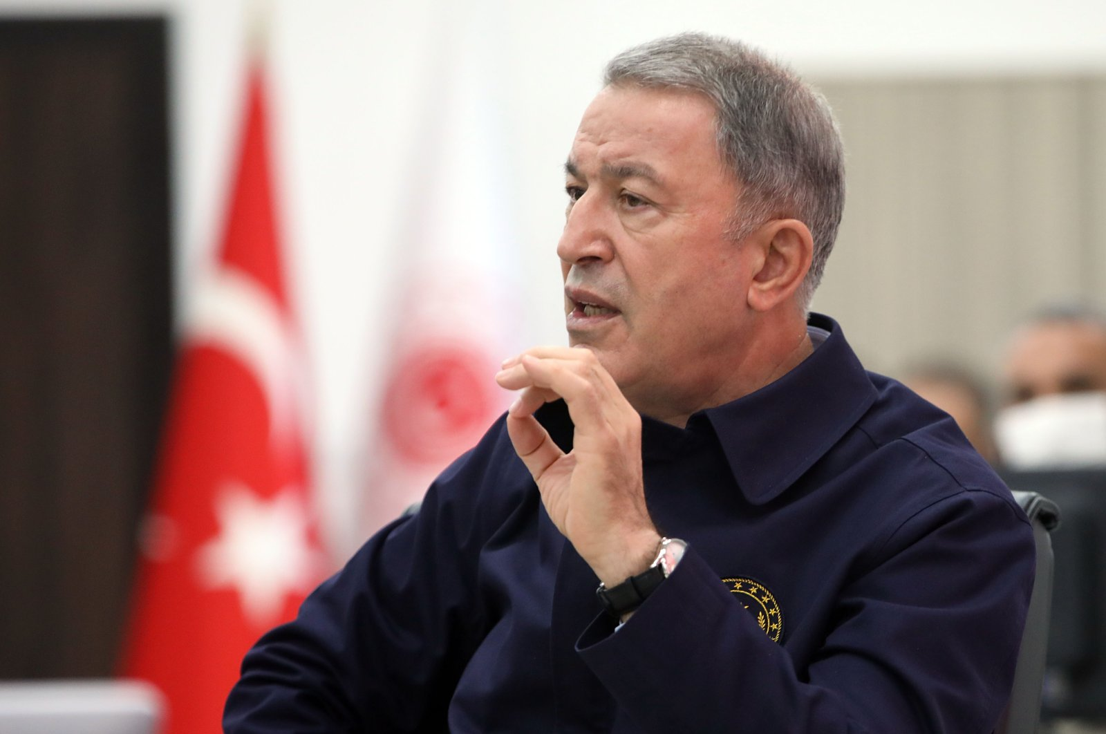 Defense Minister Hulusi Akar. (AA)