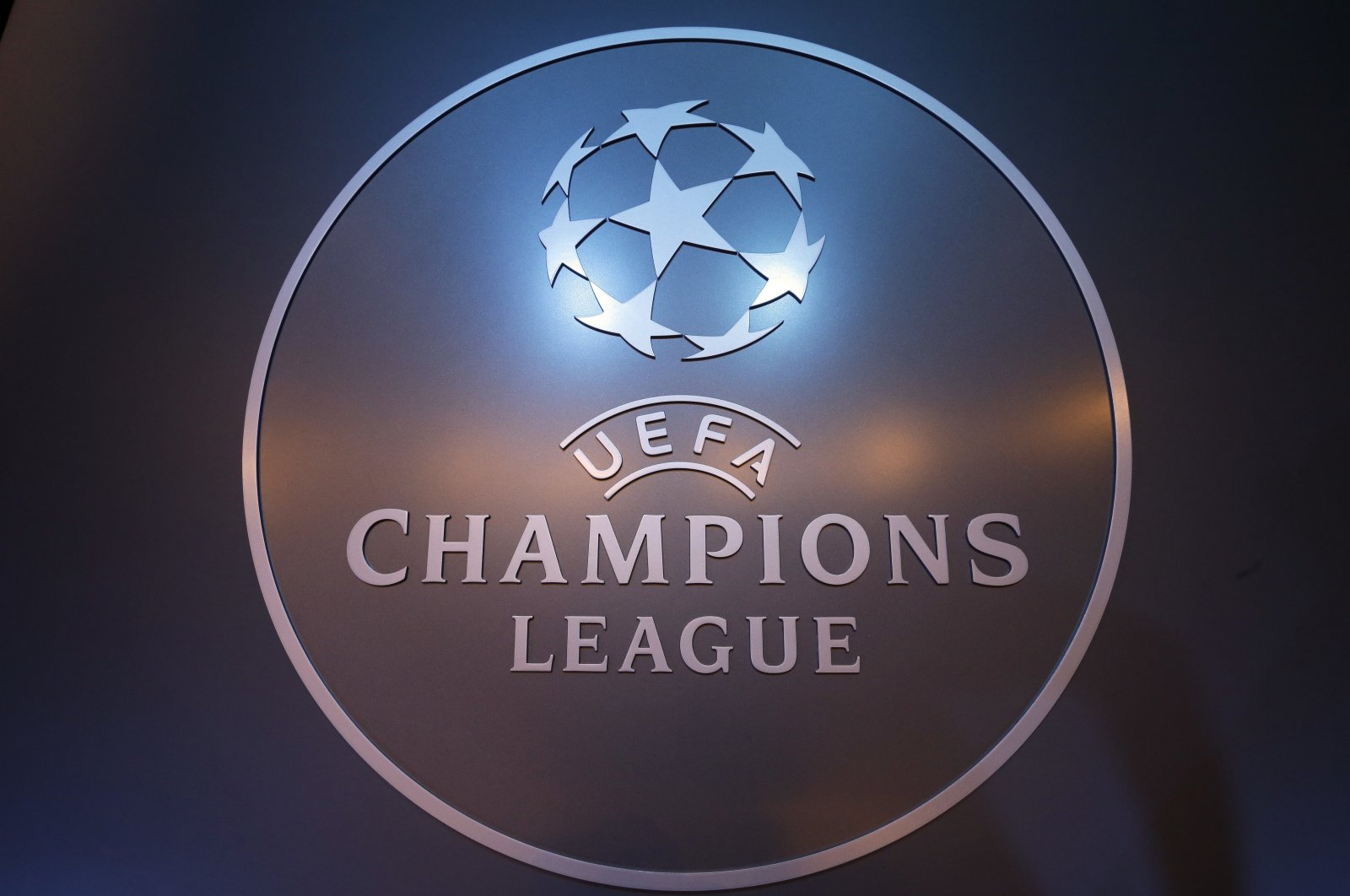 Logo of UEFA Champions League on display in Monaco. (AP Photo)