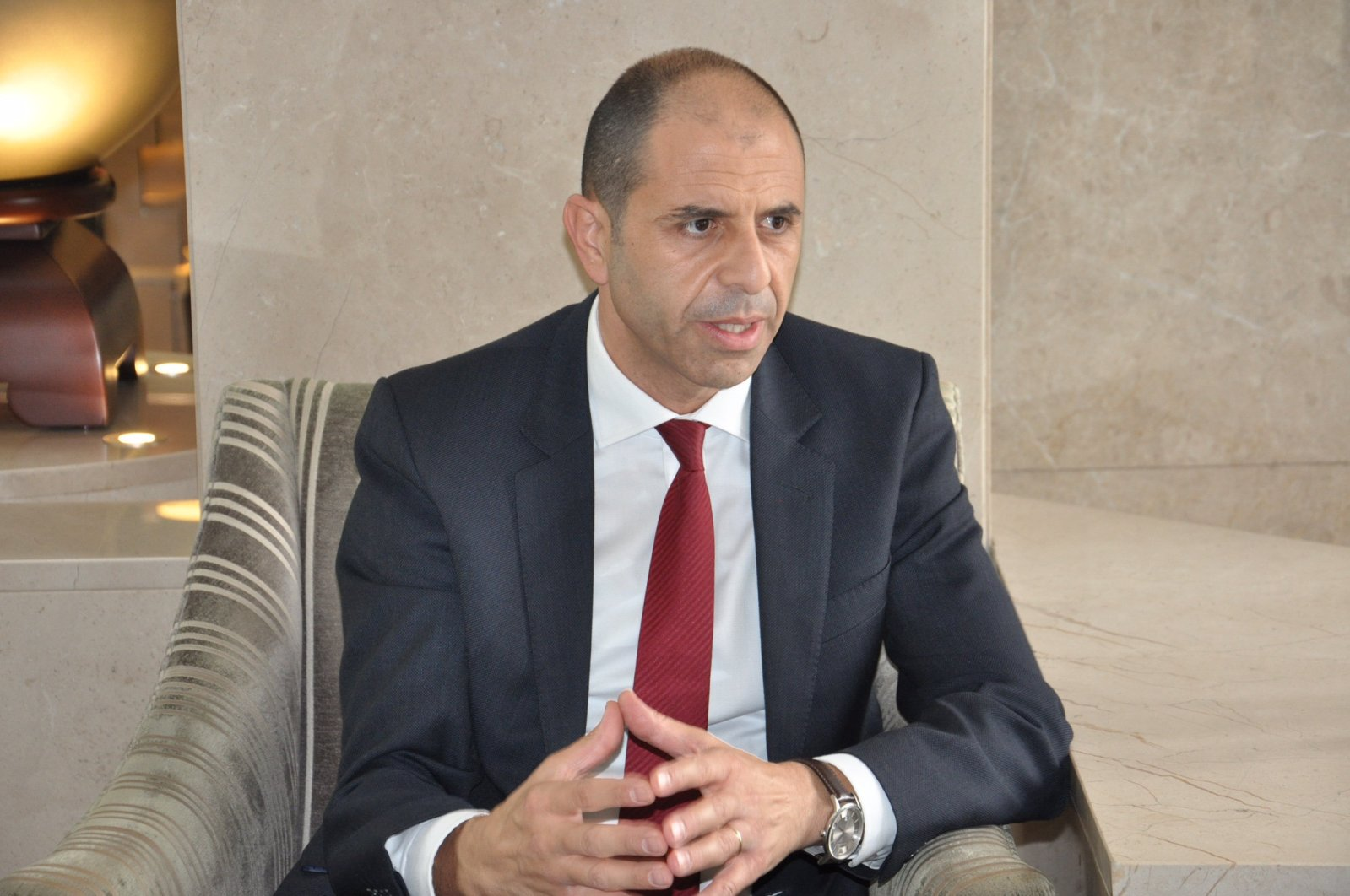 Turkish Cypriot Foreign Minister Kudret Özersay is seen in this undated photo. (Daily Sabah File Photo)