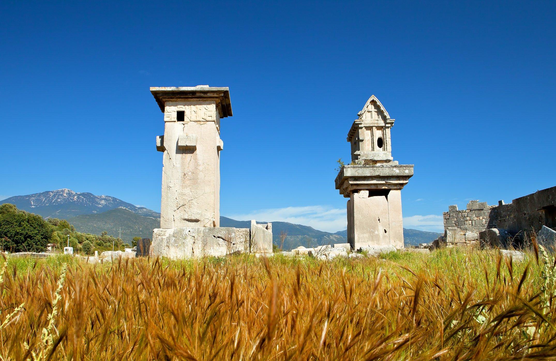 Les ruines de Xanthos - Letoon sont visibles sur le chemin lycien long de 540 km à Kaş, Antalya.  (Photo iStock)