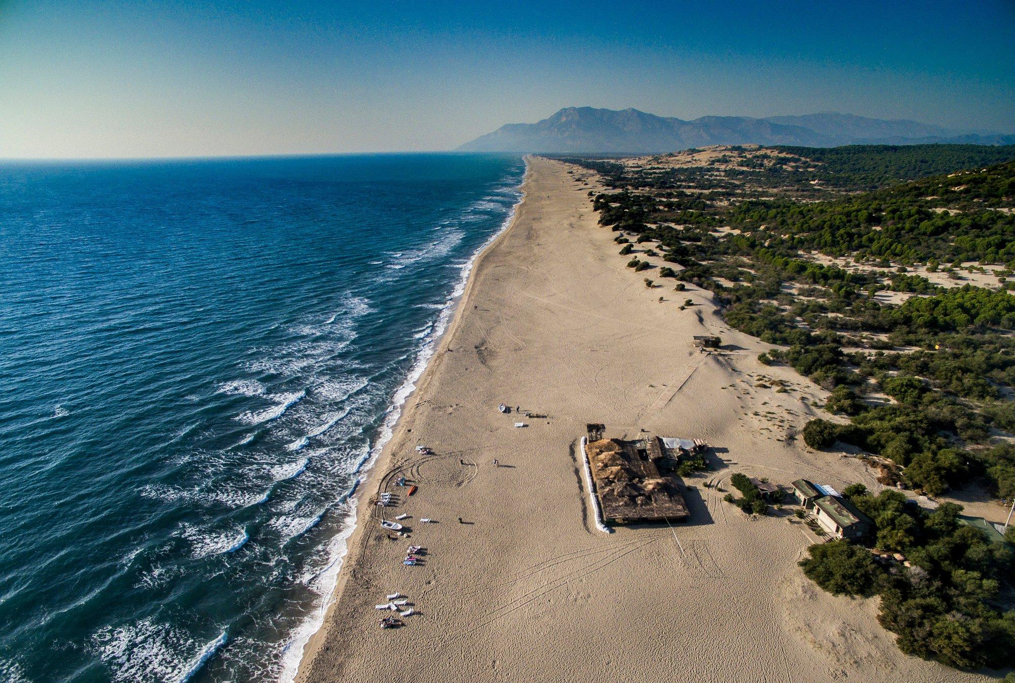 La plage de Patara est l'une des plages les plus longues et les plus populaires de la région.  (Photo iStock)