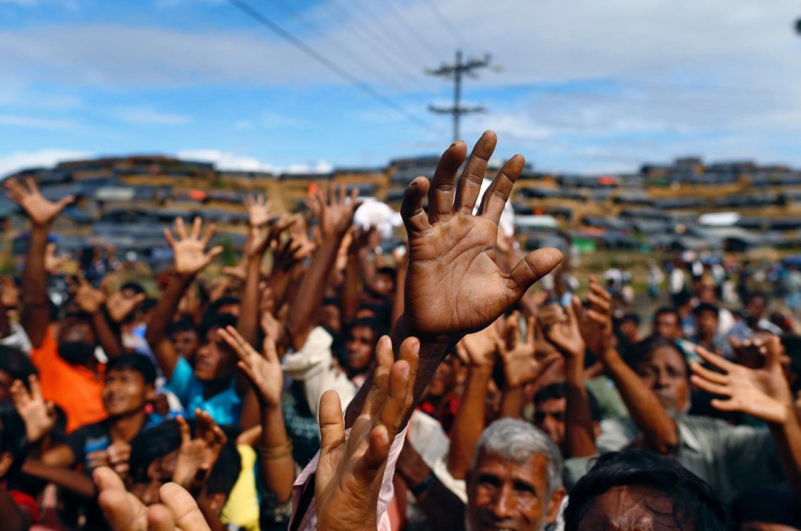 The roundups in India and fear of deportation to Myanmar have driven even more of the stateless Muslims into Bangladesh, where 1 million Rohingya live in giant refugee camps in the country's southeast. (Sabah File Photo)