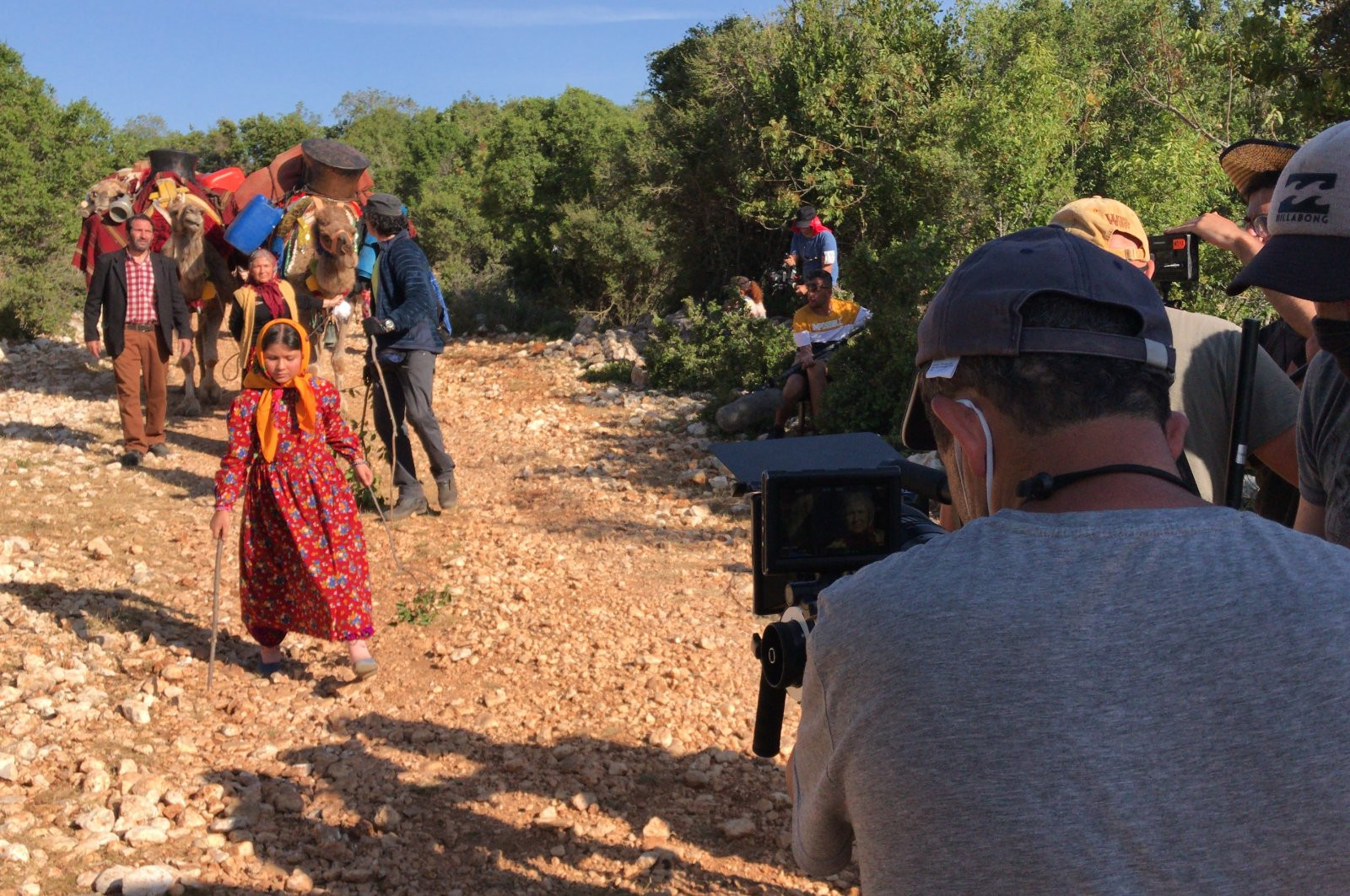 The film crew has come to Mersin province from Istanbul to continue filming. (AA PHOTO)