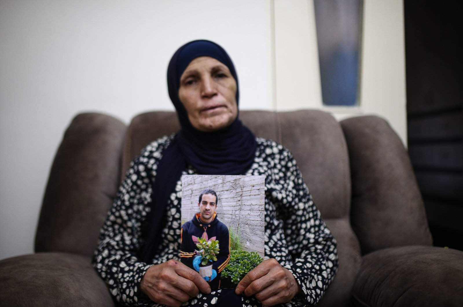 Rana el-Hallak speaks to Anadolu Agency about her son Iyad's death by Israeli police, in Jerusalem on June 7, 2020. (AA Photo)