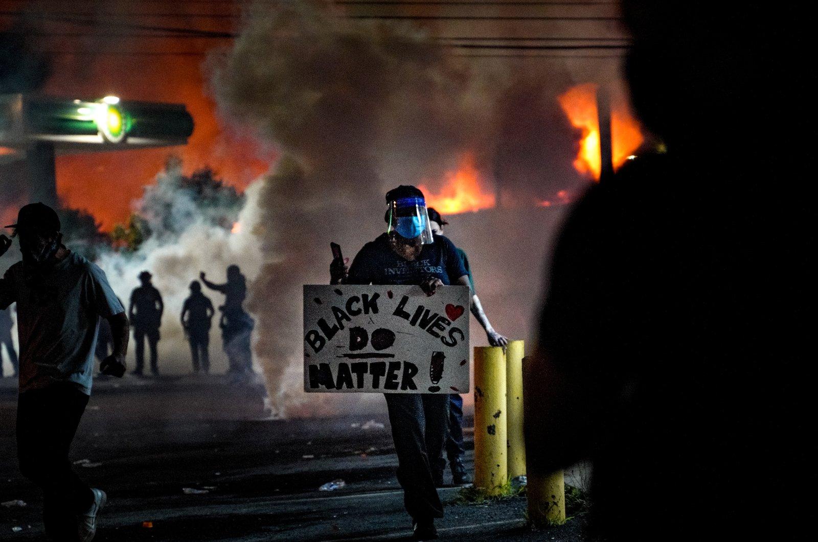 Protests in Atlanta, Georgia, U.S., on June 14, 2020 (AA Photo)