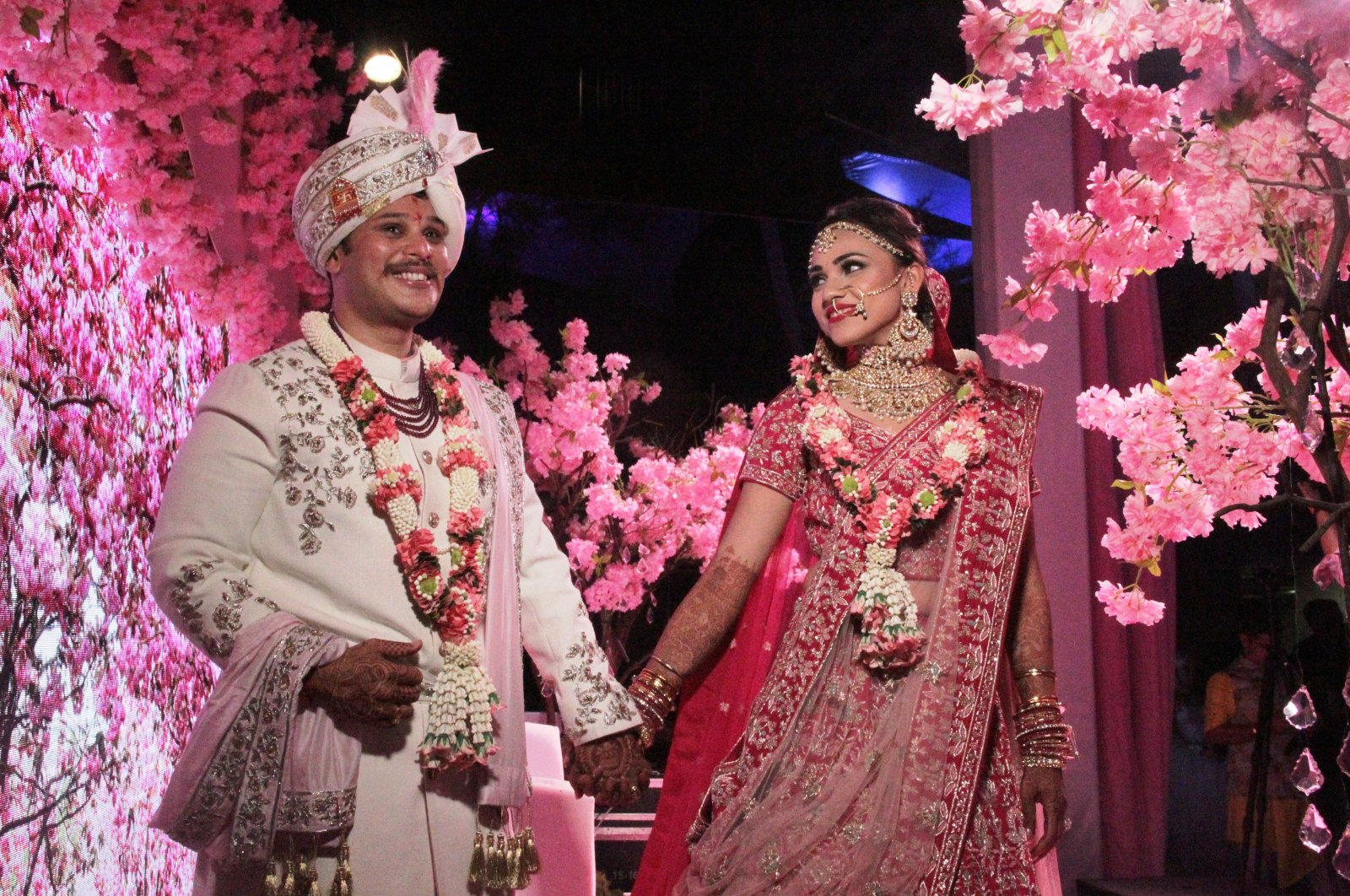 A view from an Indian wedding held in southern Turkish resort town of Bodrum. (IHA Photo)