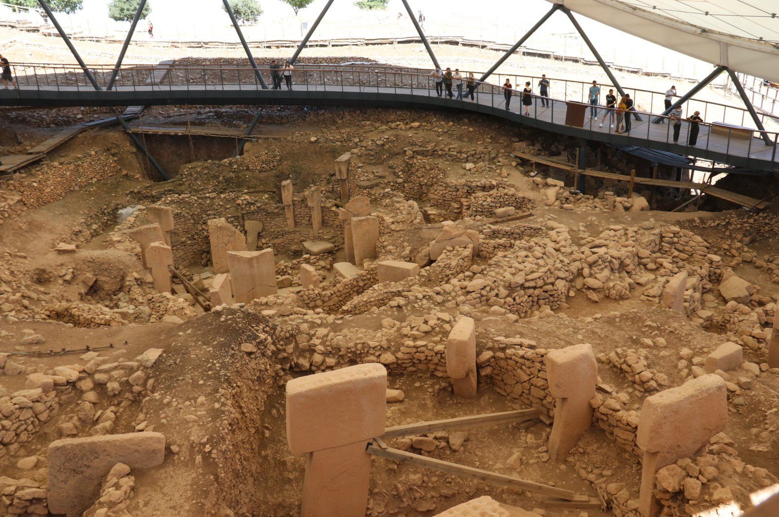 The ancient Göbeklitepe site was discovered in 1963 by researchers from the universities of Istanbul and Chicago. (AA PHOTO)