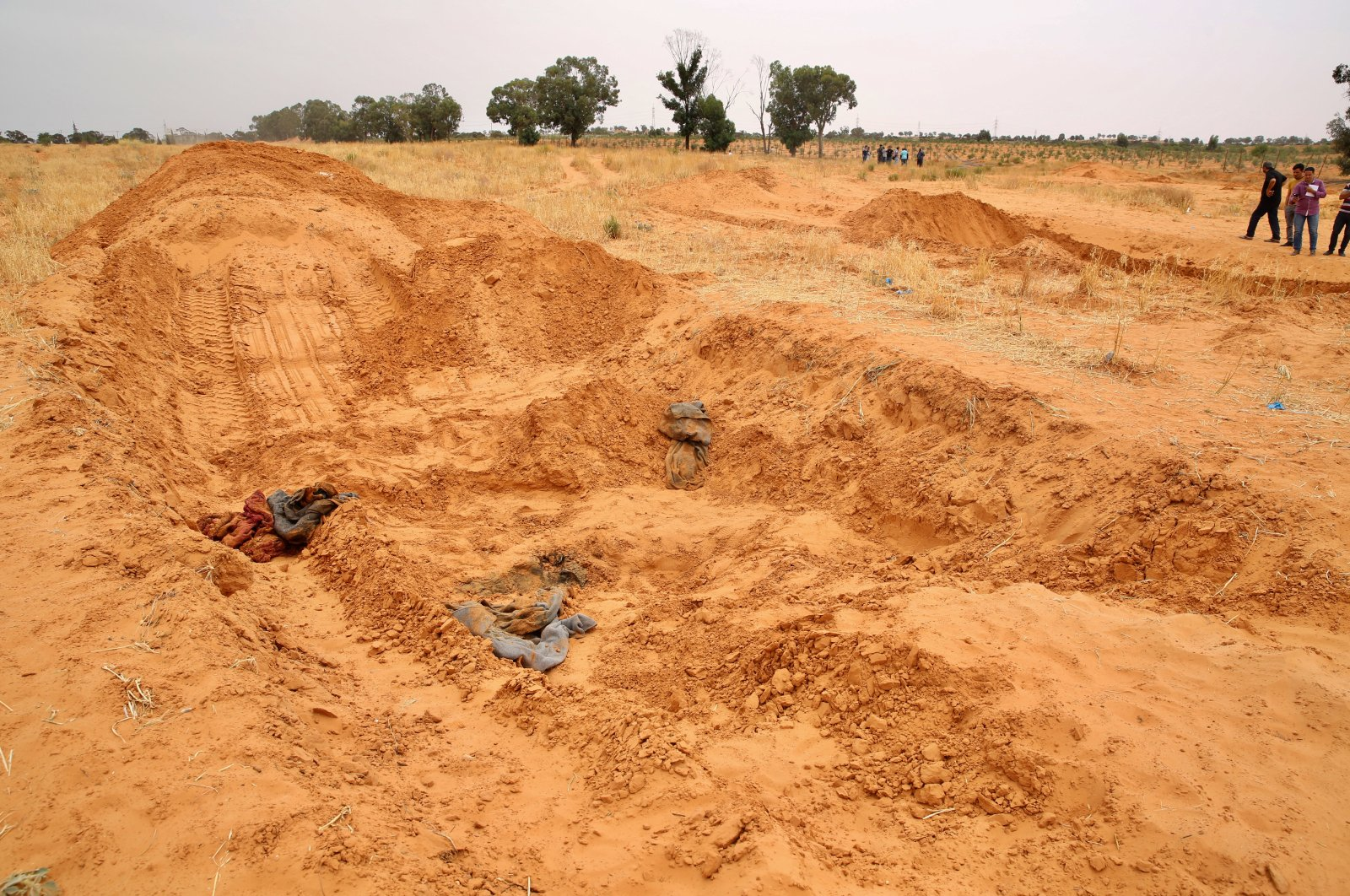 A mass grave discovered in the city of Tarhuna, Libya, June 12, 2020. (AA Photo)