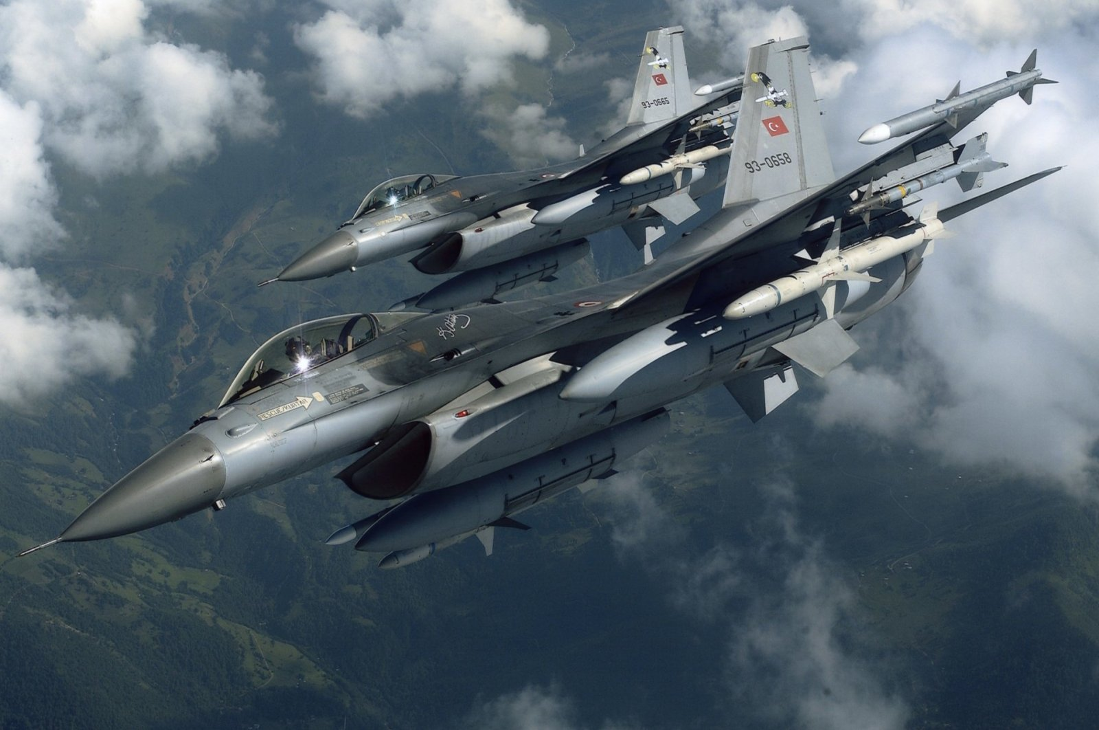 Two Turkish F-16 jets are seen in this undated photo. (Sabah File Photo)