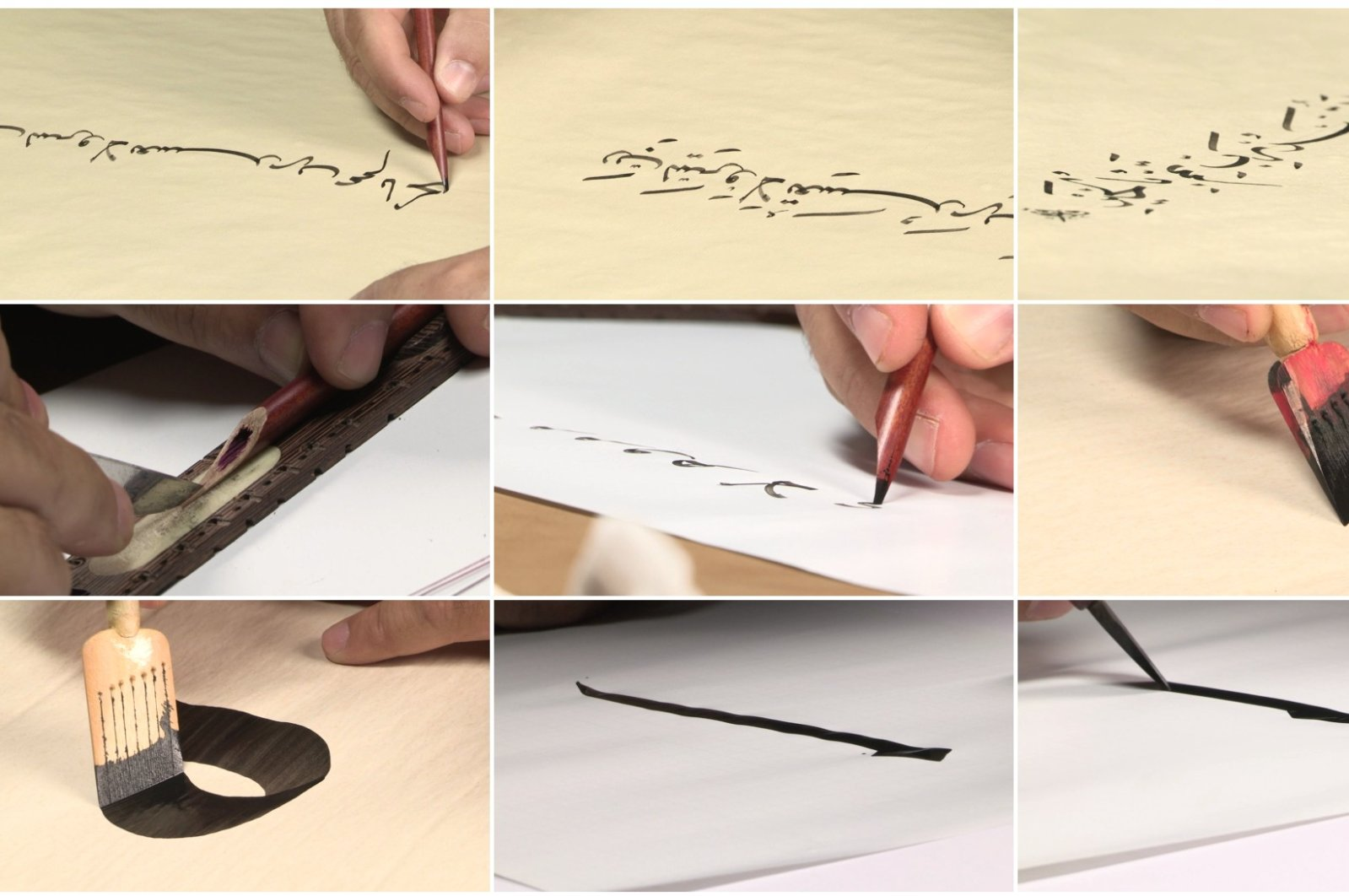 """Ali Kazma, """"Calligraphy"""" (from the series Resistance), 2013, video. (Courtesy of Arter)"""