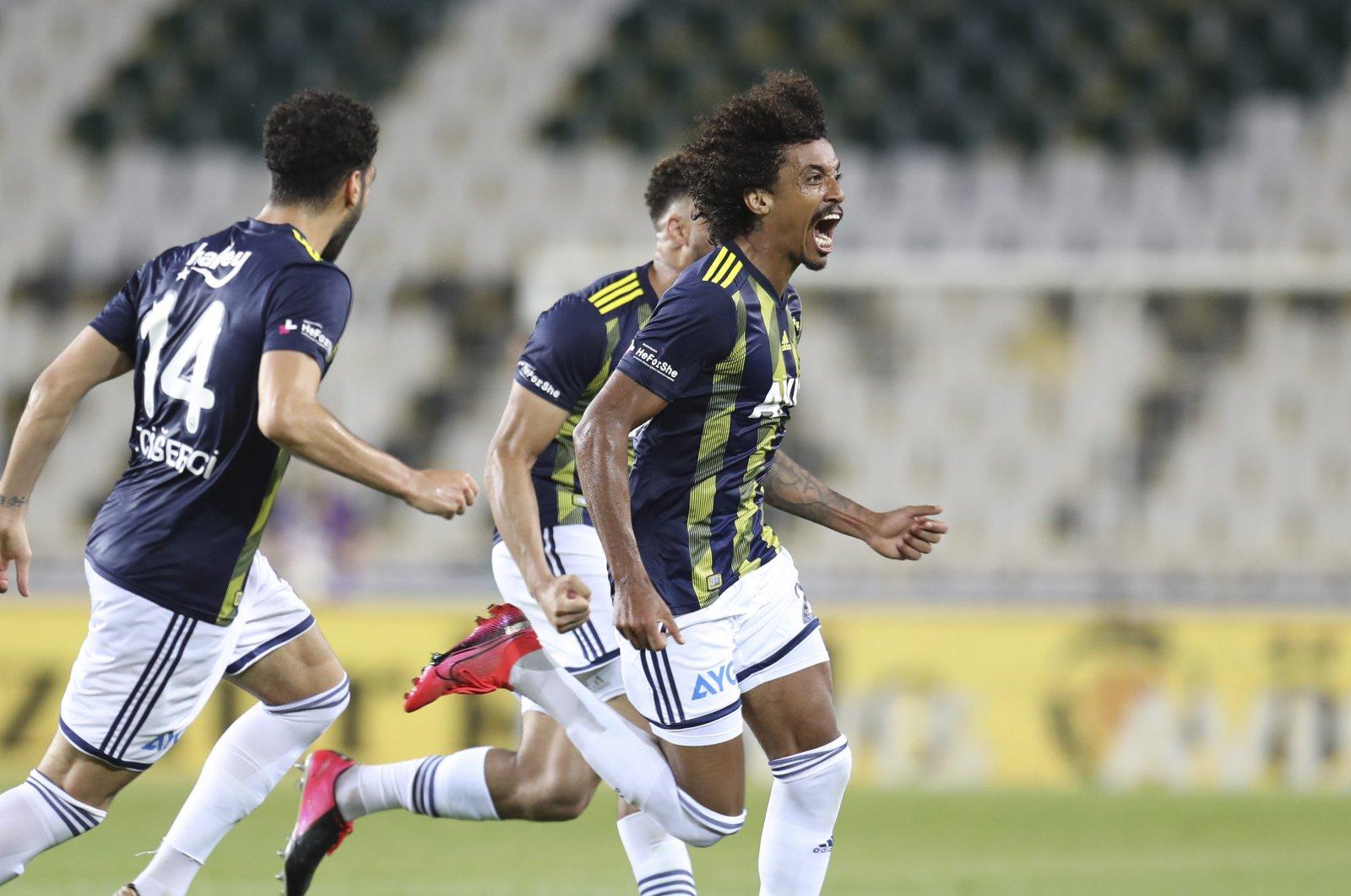 Fener's Jailson Marques celebrates scoring a goal against Kayseri in Istanbul, Turkey, June 13, 2020. (AA Photo)