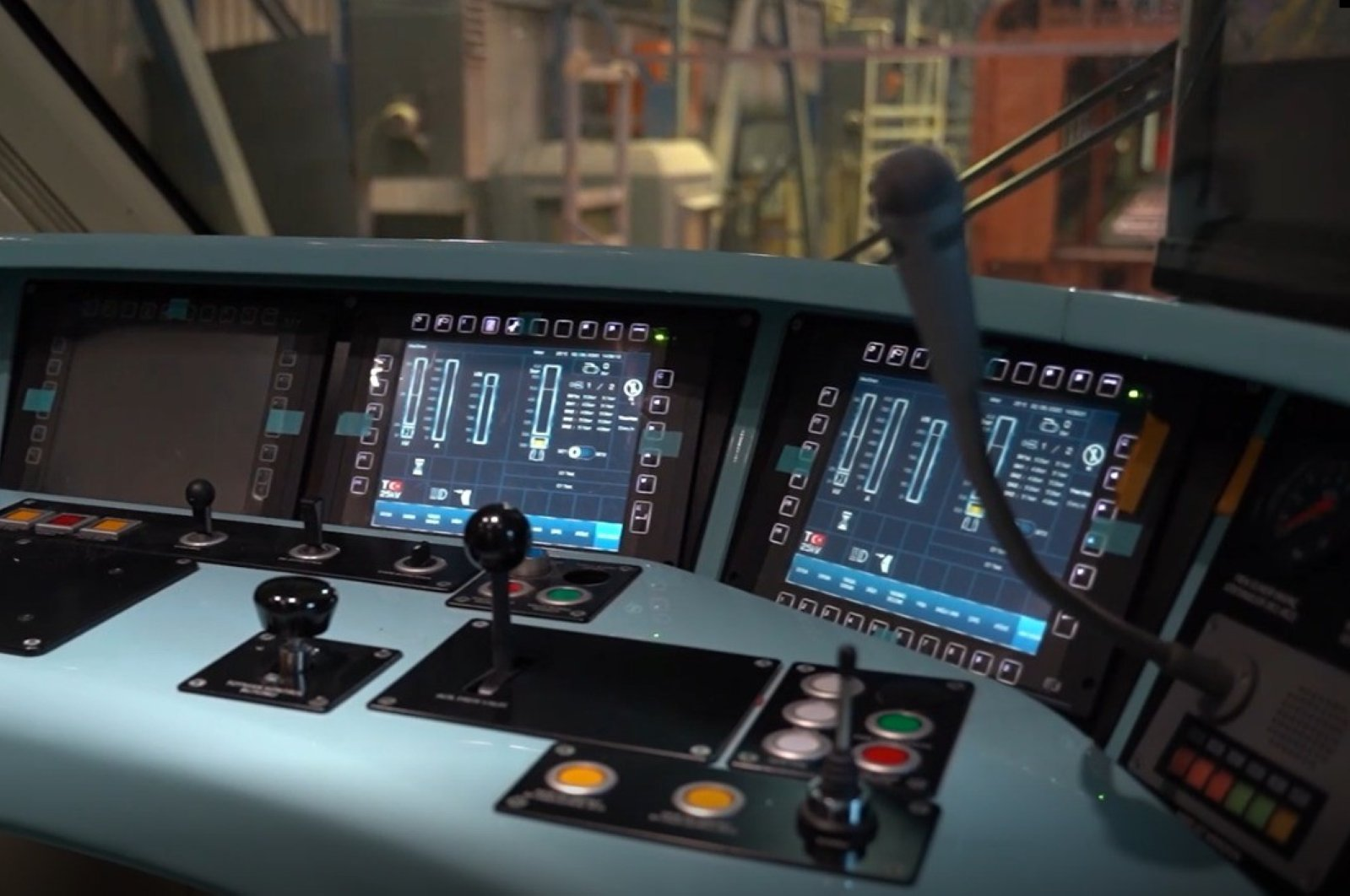 The control panel of the first Turkish-made electric train at the Turkish Wagon Industry (TUVASAS) plant in the northwestern province of Sakarya, June 15, 2020. (IHA Photo)