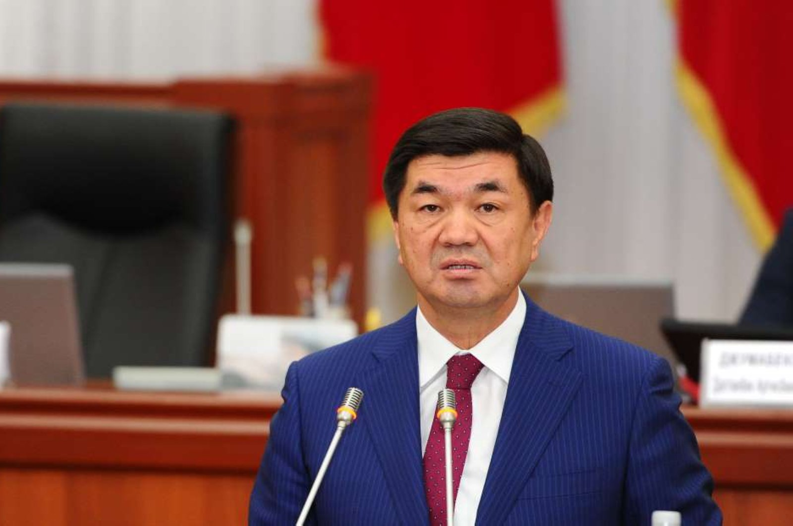 Kyrgyzstan's Prime Minister Mukhammedkalyi Abylgaziev seen in an undated photo. (AA Photo)