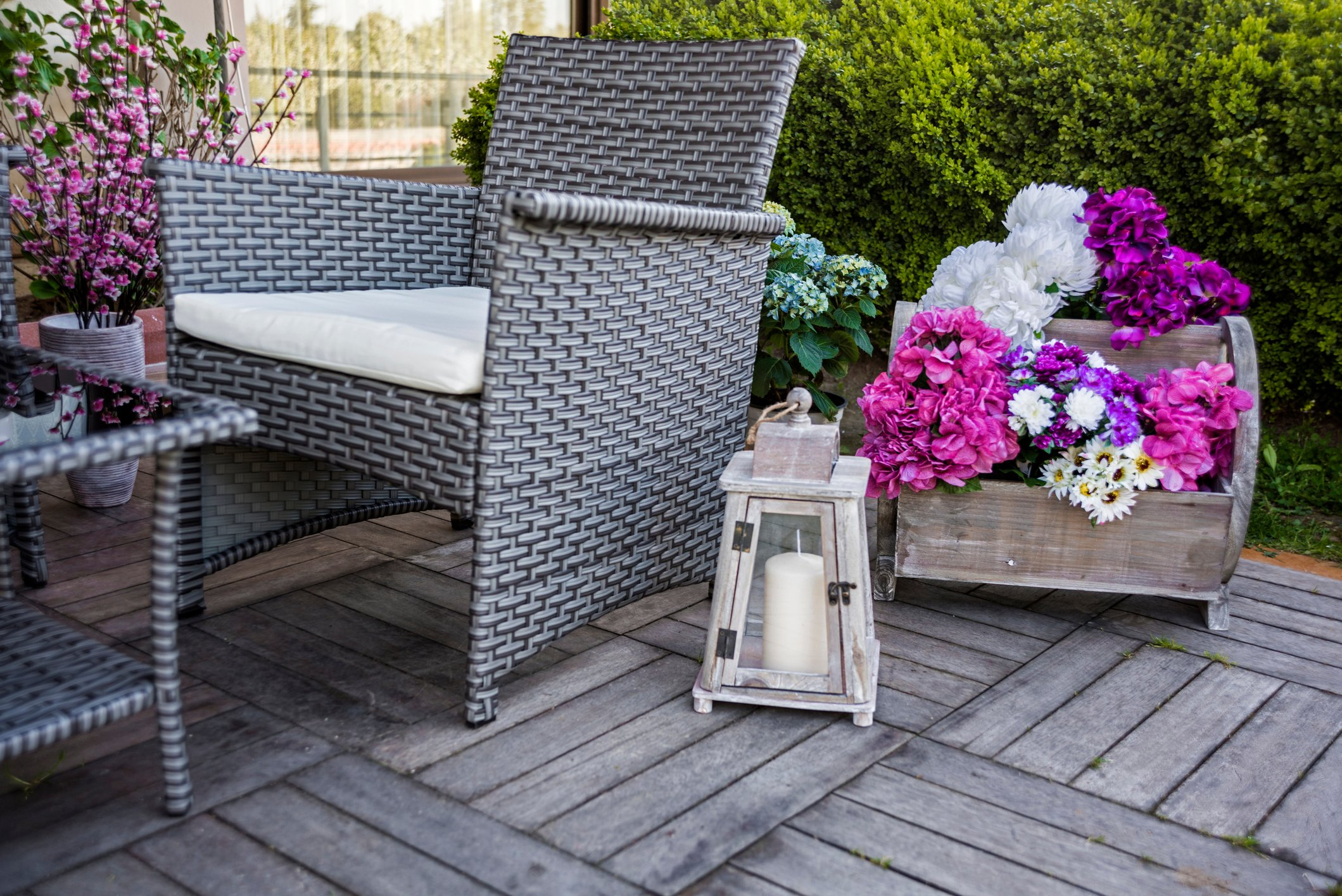 Wicker and rattan style furniture has seen a boom in popularity. (iStock Photo)