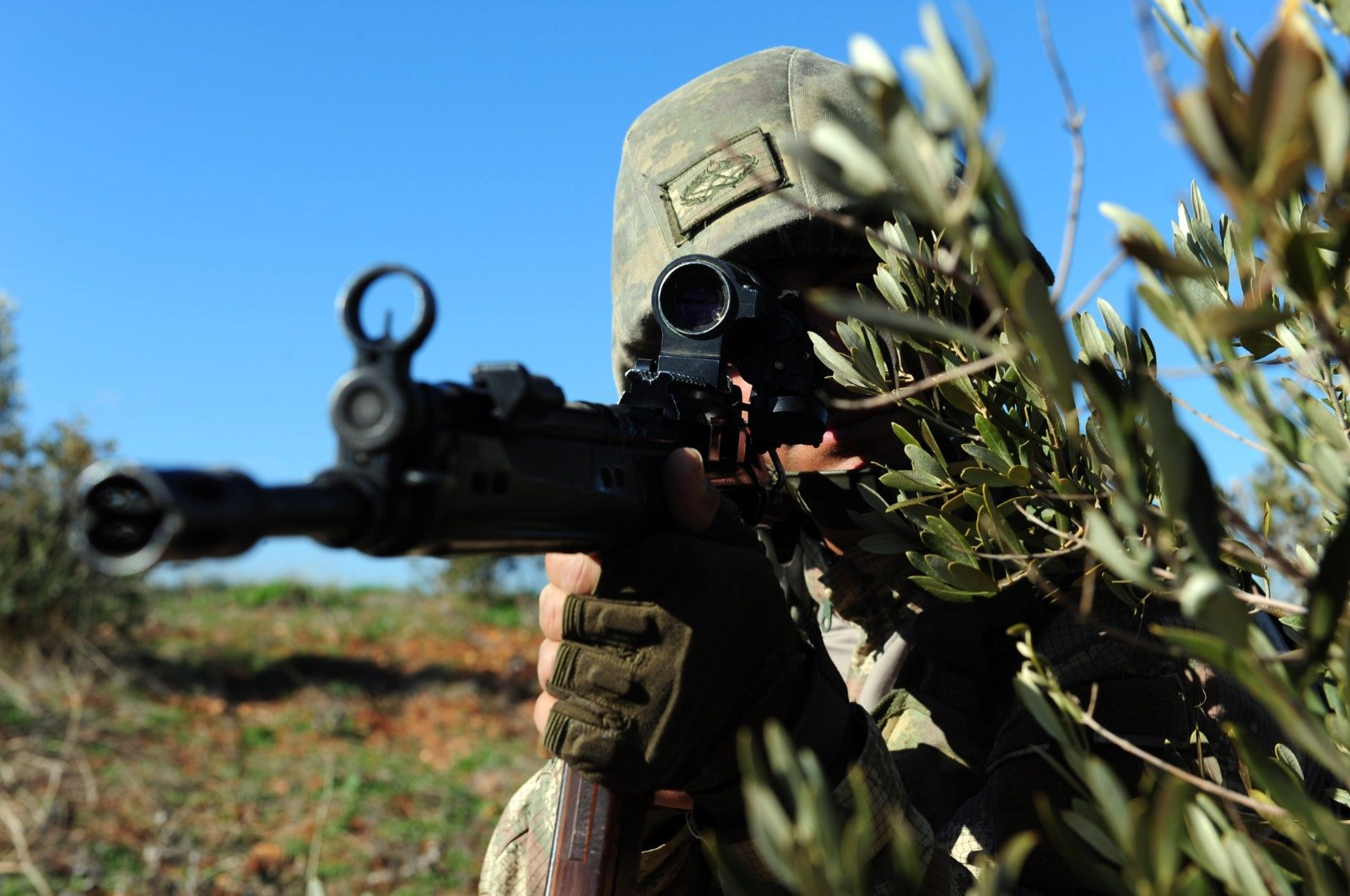 A Turkish soldier participates in a counterterrorism operation against the PKK in this undated file photo. (Defense Ministry handout)