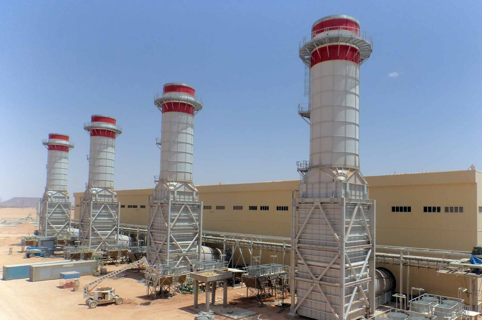 The Ubari natural gas power plant is seen in this undated file photo, Ubari, Libya.