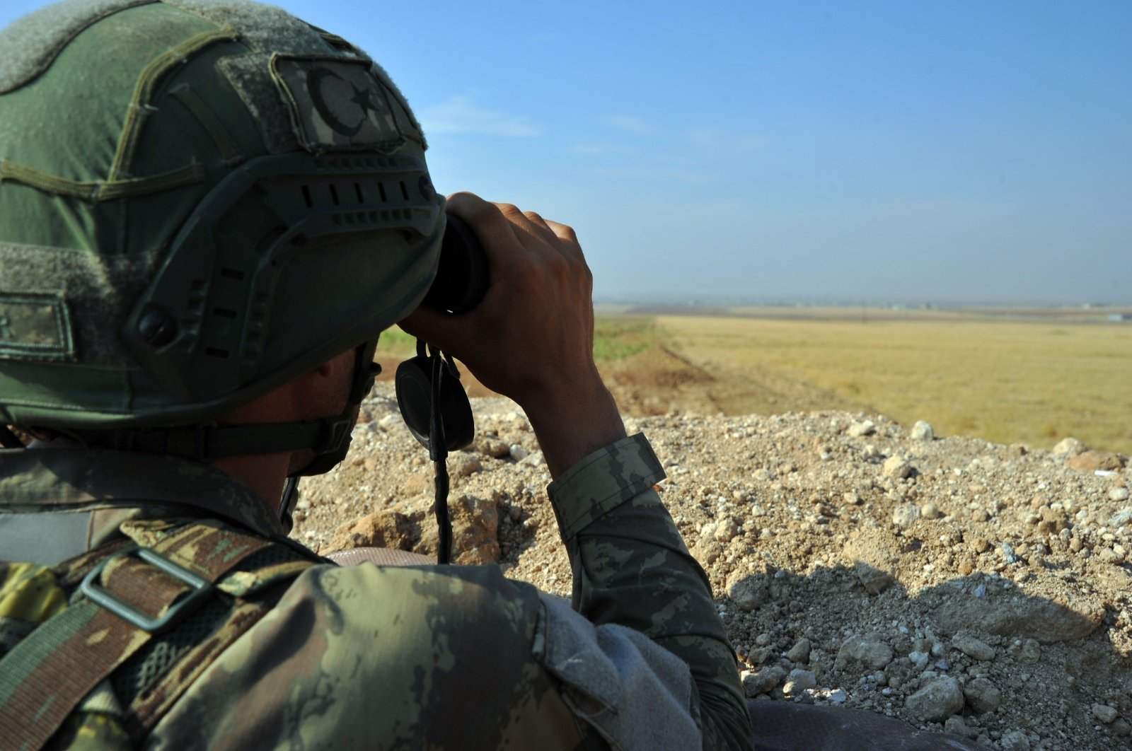 A Turkish soldier is seen in this file photo during an operation against YPG/PKK terrorists, June 13, 2020. (DHA Photo)