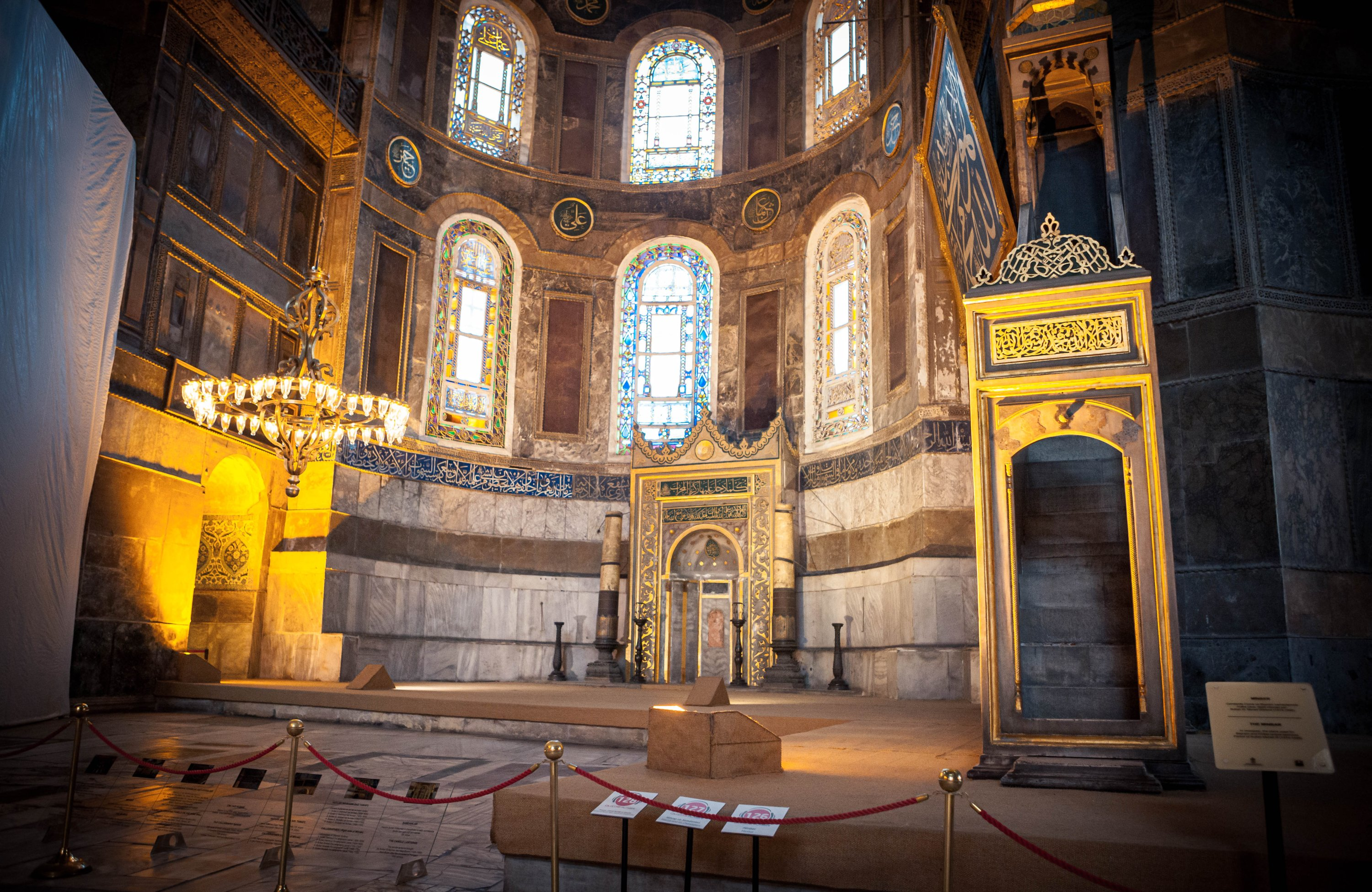 A photo from the interior of Hagia Sophia. (Photo by Hatice Çınar) (I will use these photos as multiple media on the web, this is why I wrote the same caption)