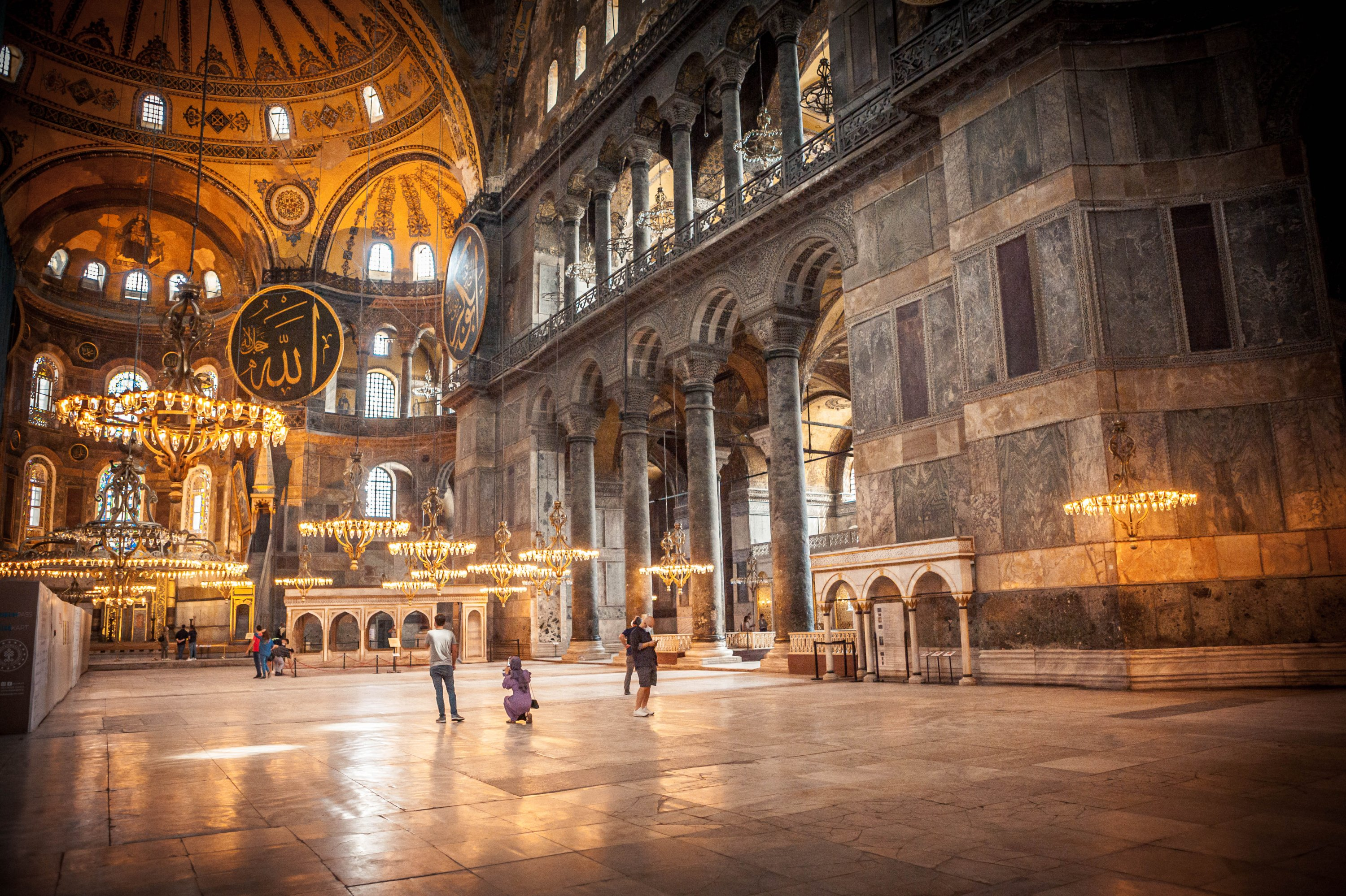 A photo from the interior of Hagia Sophia. (Photo by Hatice Çınar)