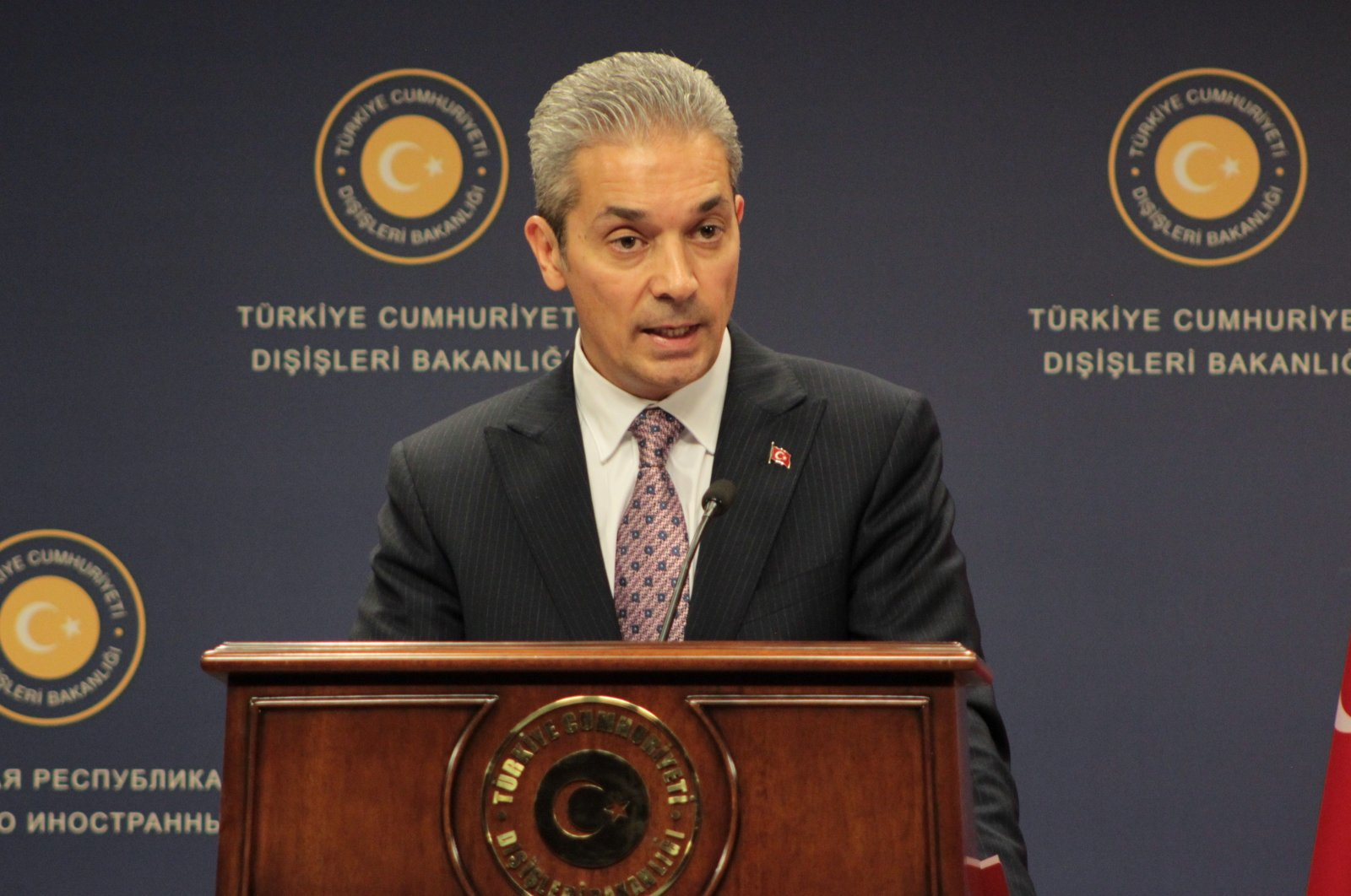Turkish Foreign Ministry spokesman Hami Aksoy. (IHA Photo)